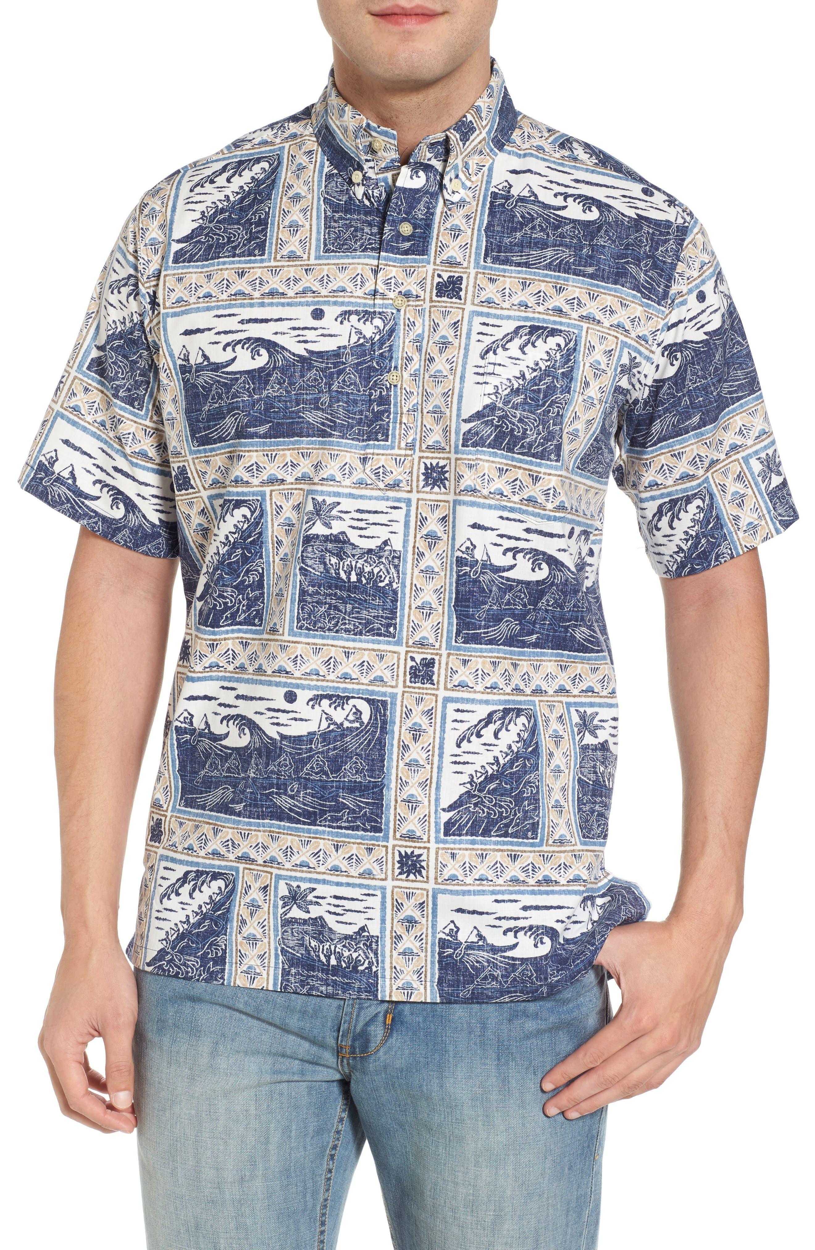 Molokai to Oahu Button Down Polo,                         Main,                         color, Navy