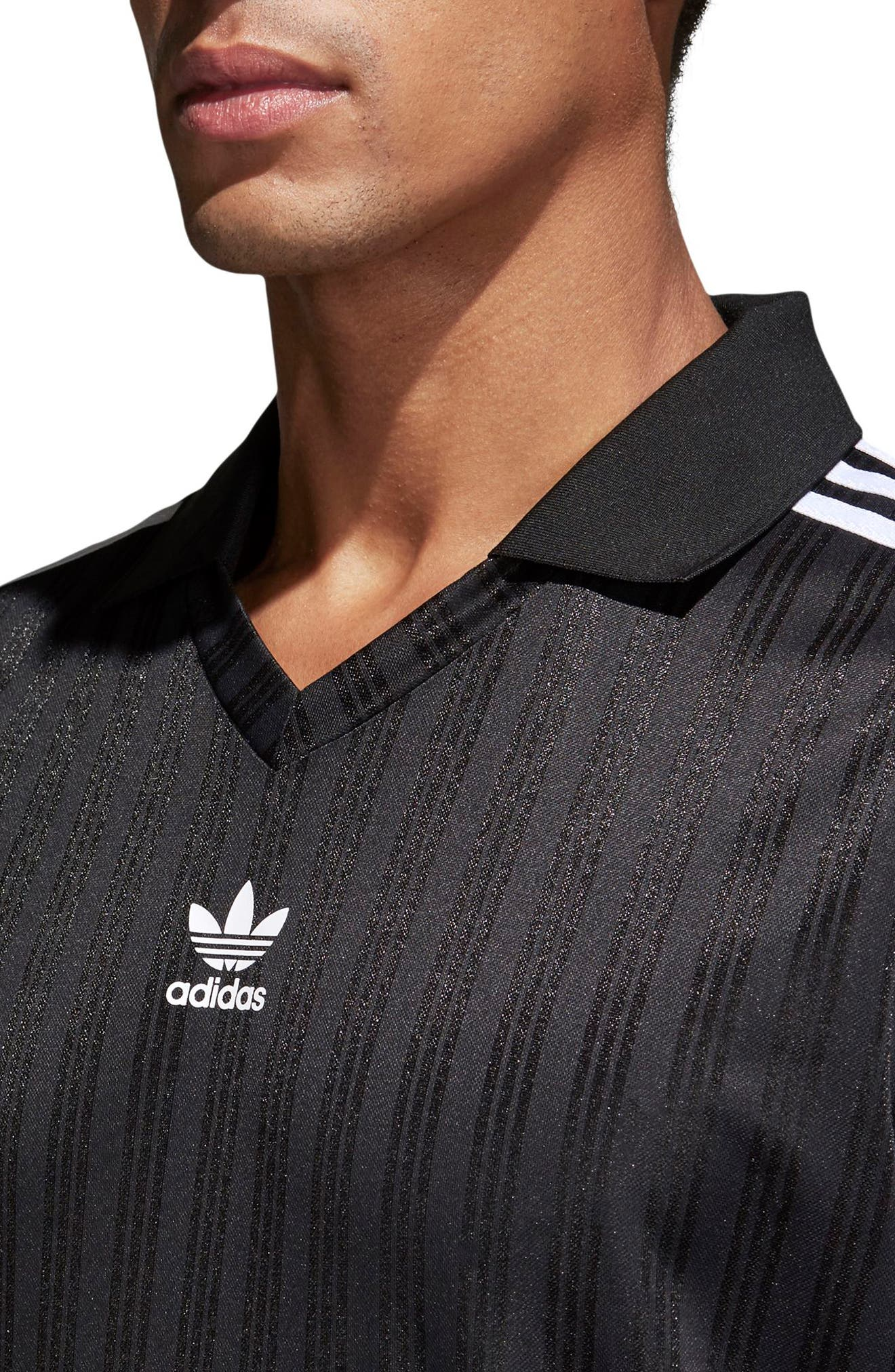adidas Football Jersey Polo,                             Alternate thumbnail 4, color,                             Black
