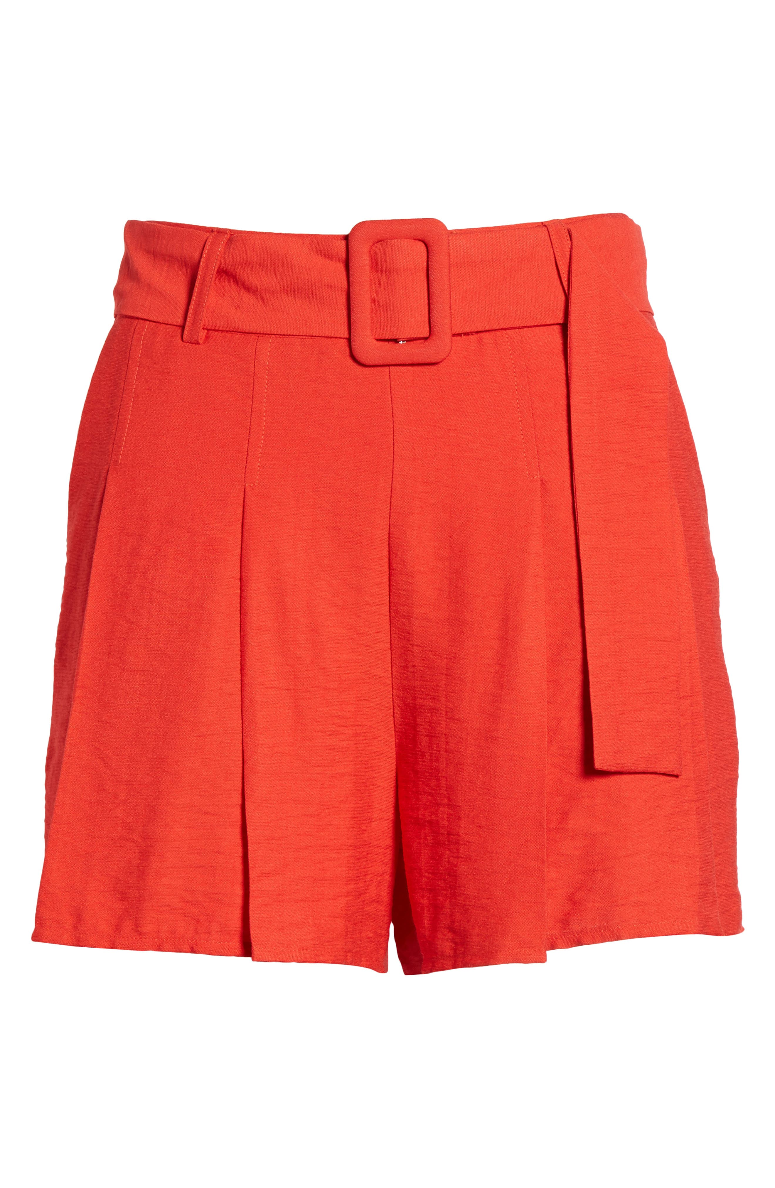 Alternate Image 7  - Moon River Belted High Waist Shorts