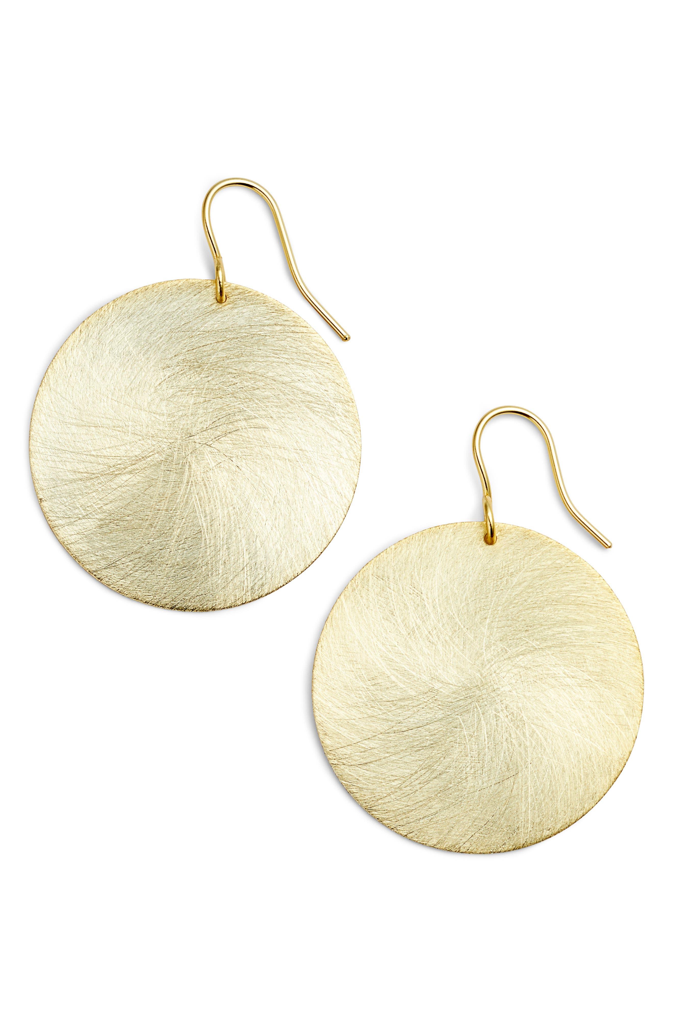 Halogen® Brushed Disc Drop Earrings