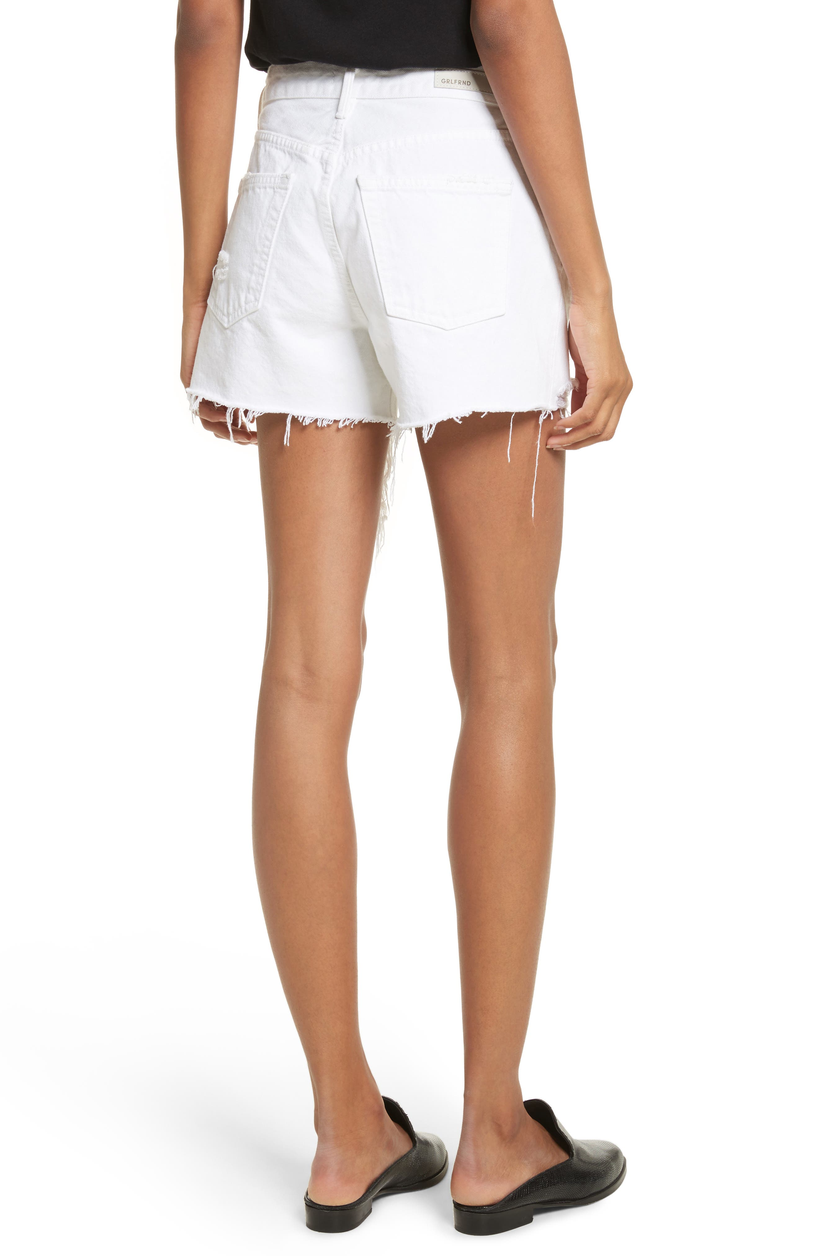 Helena High Waist Denim Shorts,                             Alternate thumbnail 2, color,                             Pierre