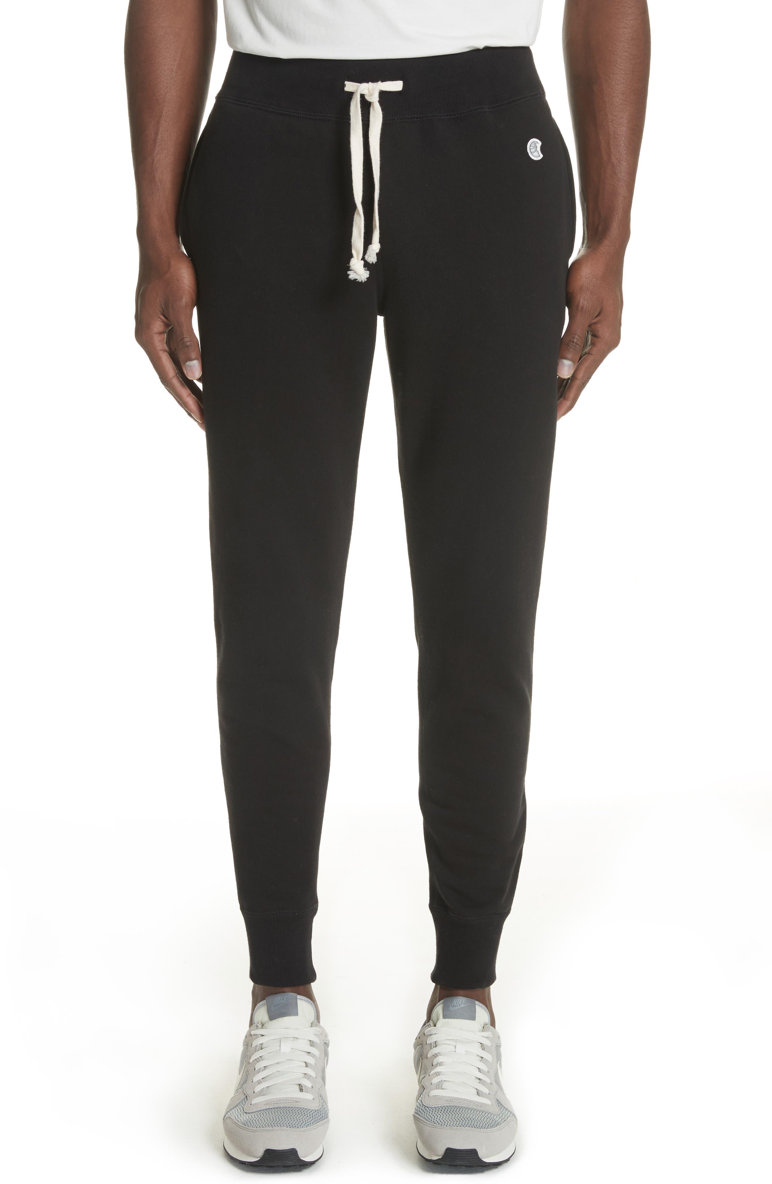 Cotton Blend Jogger Pants,                         Main,                         color, Black