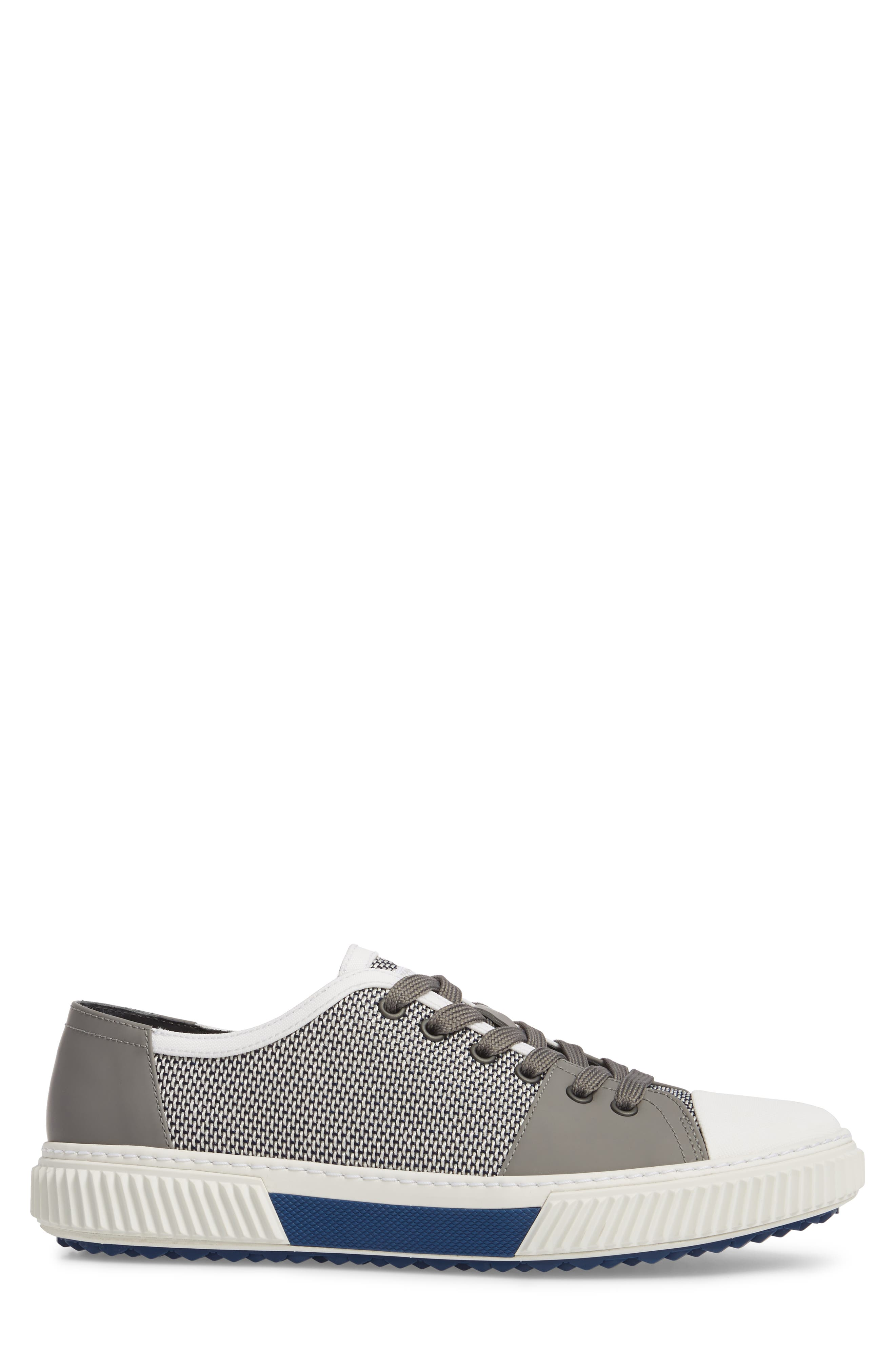 Linea Rossa Low-Top Sneaker,                             Alternate thumbnail 3, color,                             Baltic White