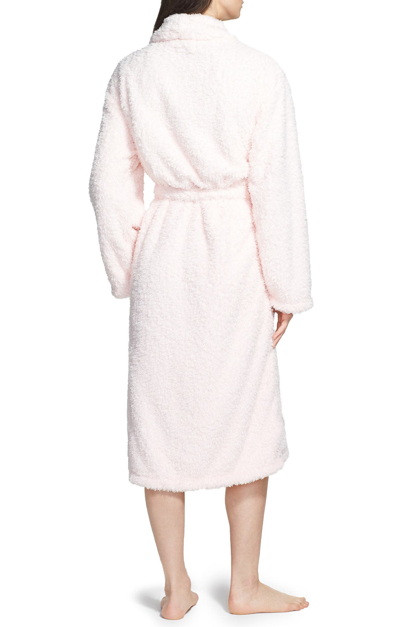 Chenille Robe,                             Alternate thumbnail 2, color,                             Pink