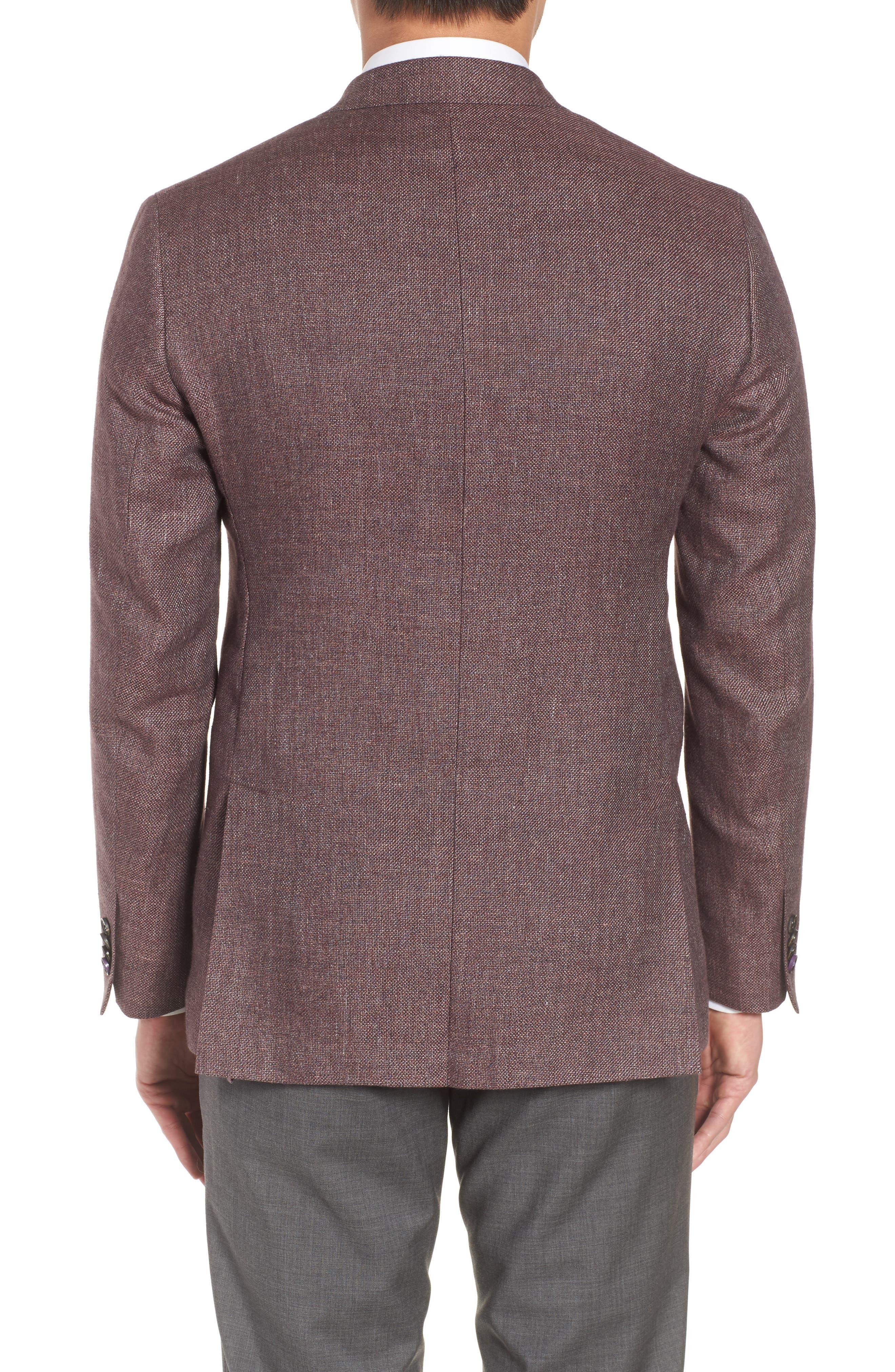 Kyle Trim Fit Linen & Wool Blazer,                             Alternate thumbnail 2, color,                             Light Brick