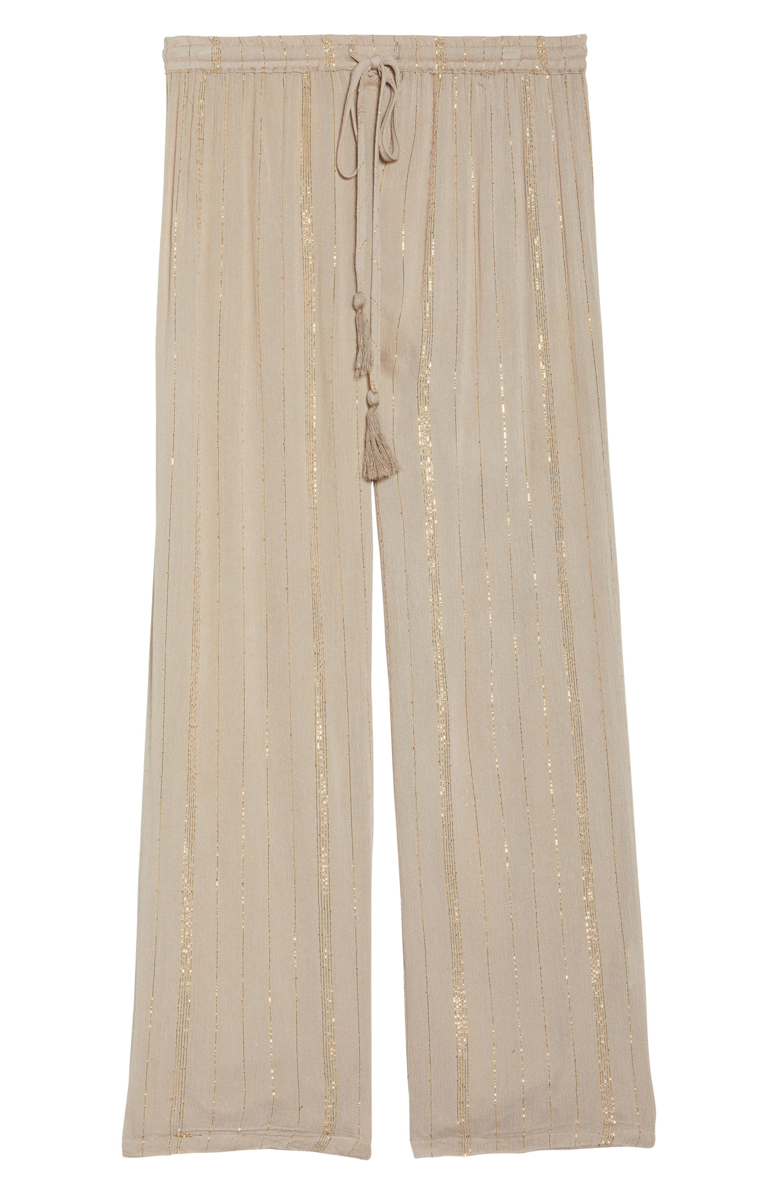Iris Cover-Up Pants,                             Alternate thumbnail 6, color,                             Taupe/ Gold