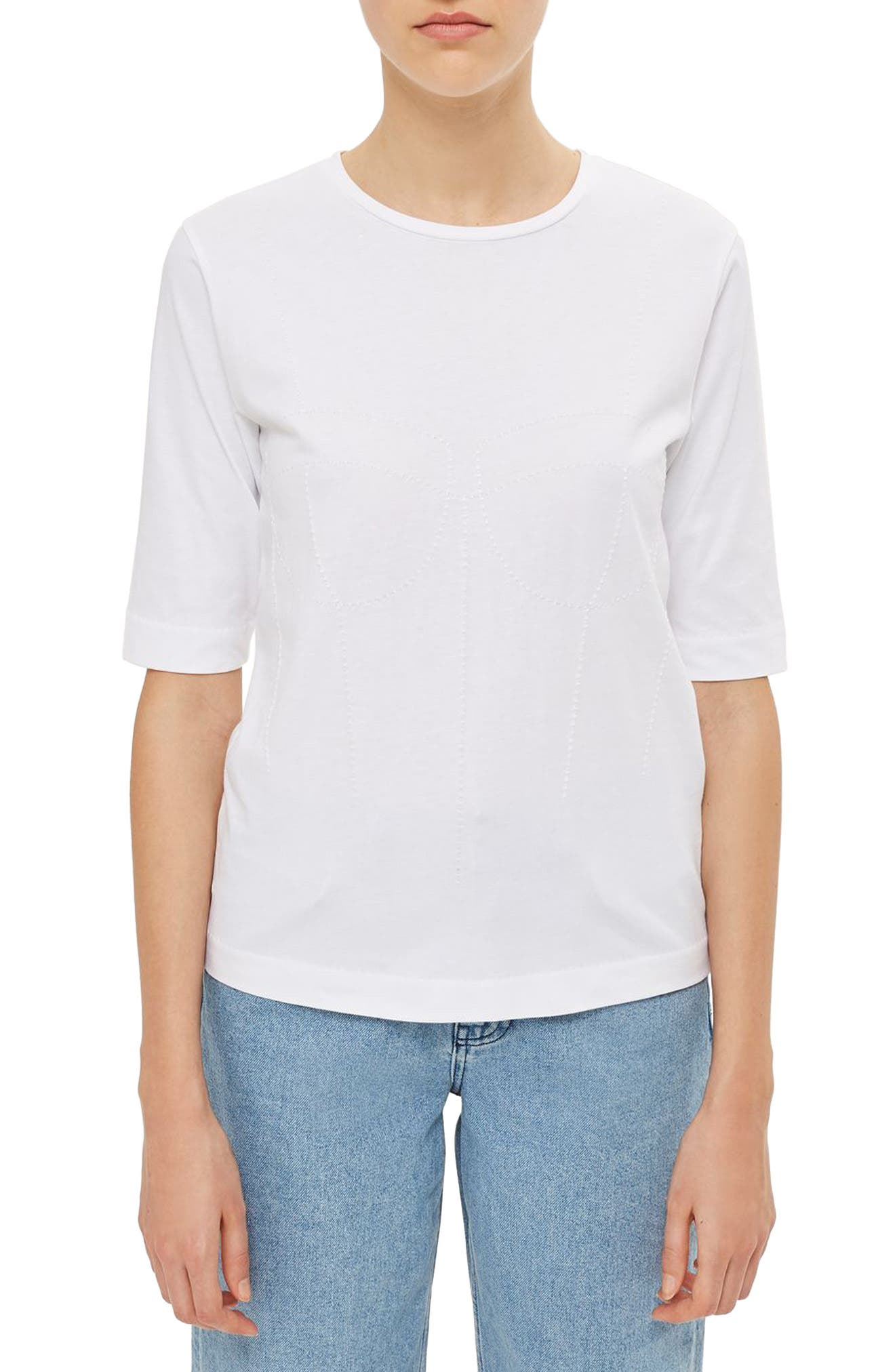 Topshop Boutique Topstitch Tee