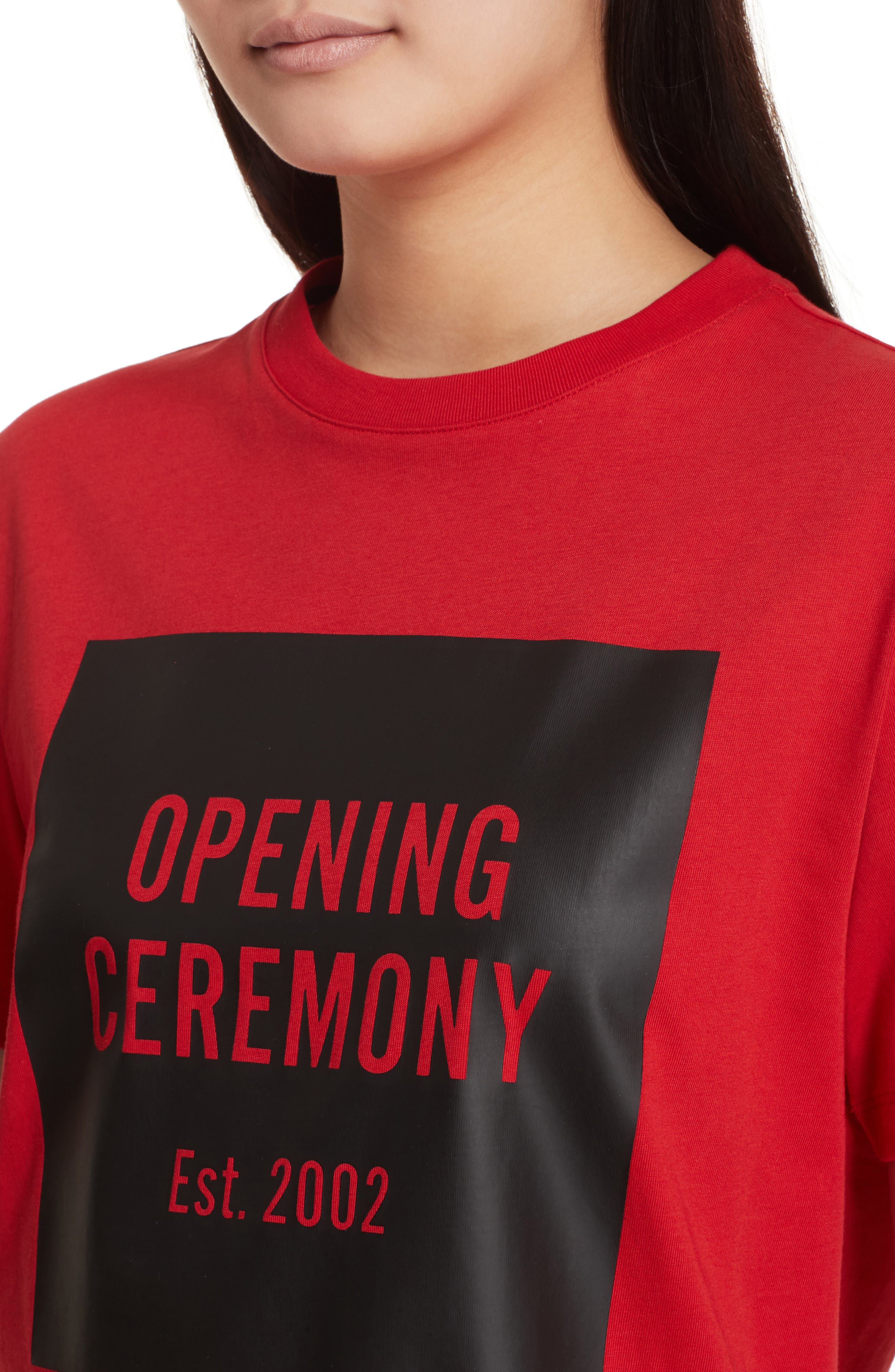 Logo Tee,                             Alternate thumbnail 4, color,                             Torch Red