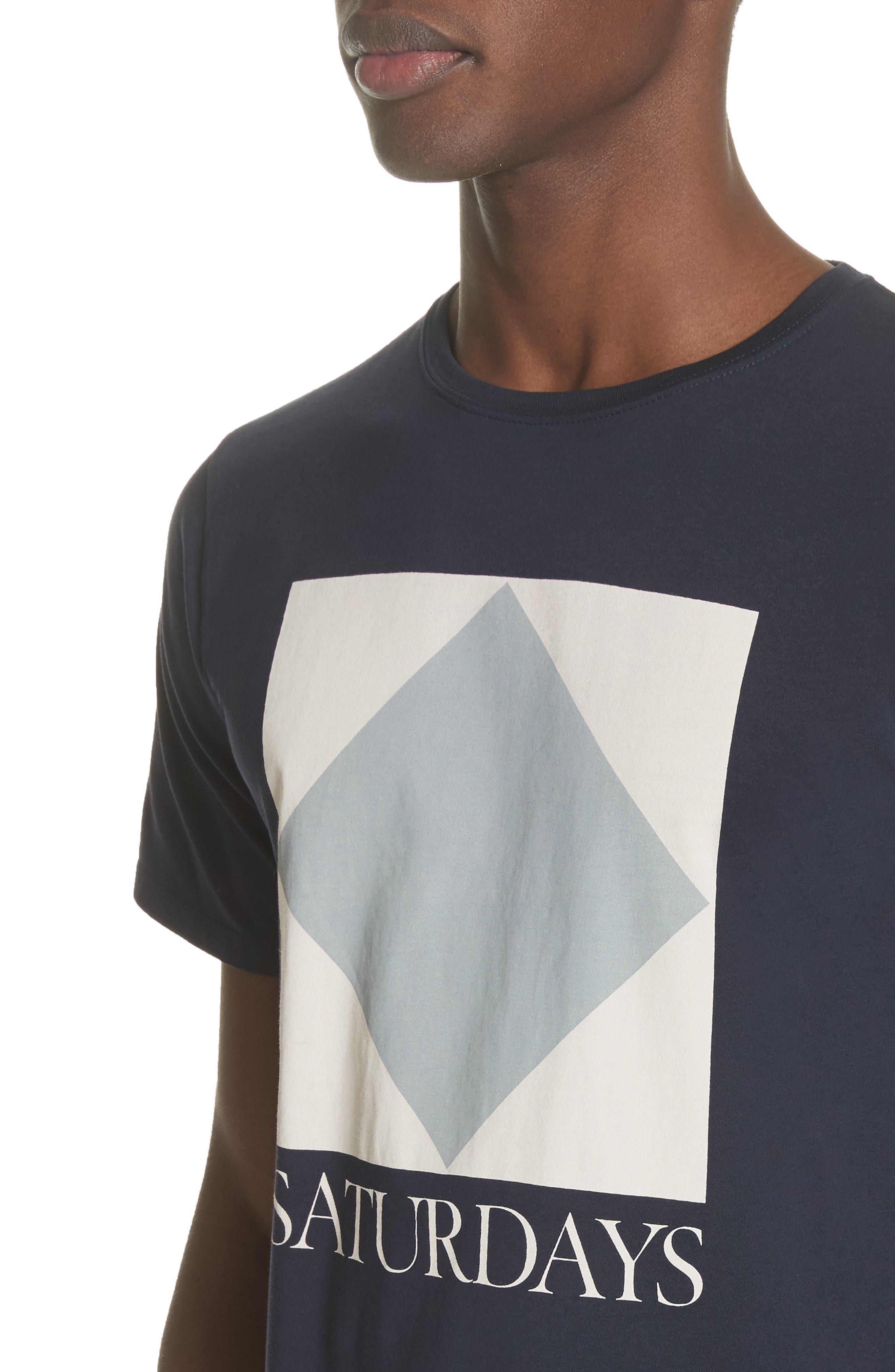 Diamond Graphic T-Shirt,                             Alternate thumbnail 4, color,                             Midnight