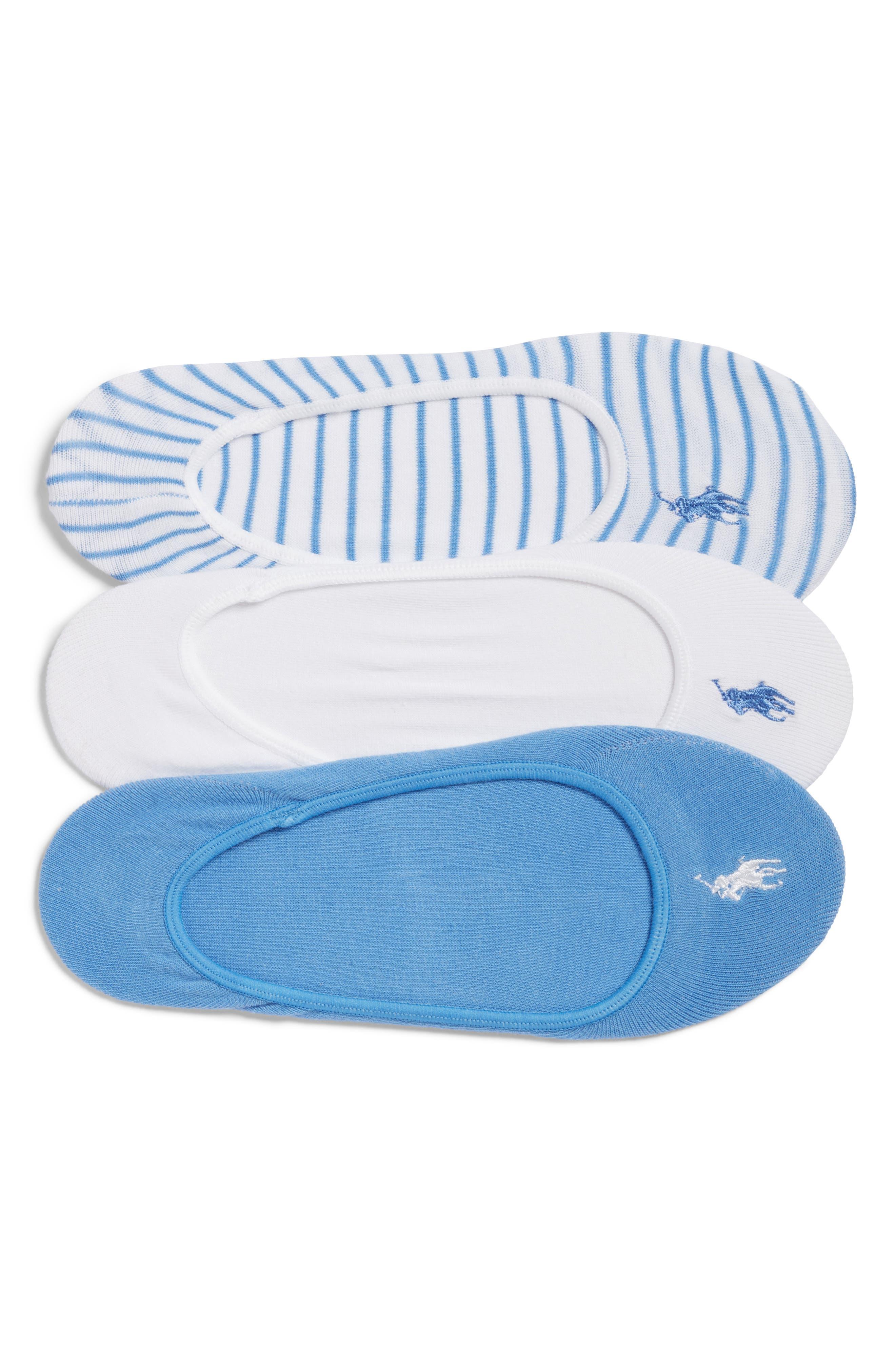 Ralph Lauren 3-Pack Stripe No-Show Socks