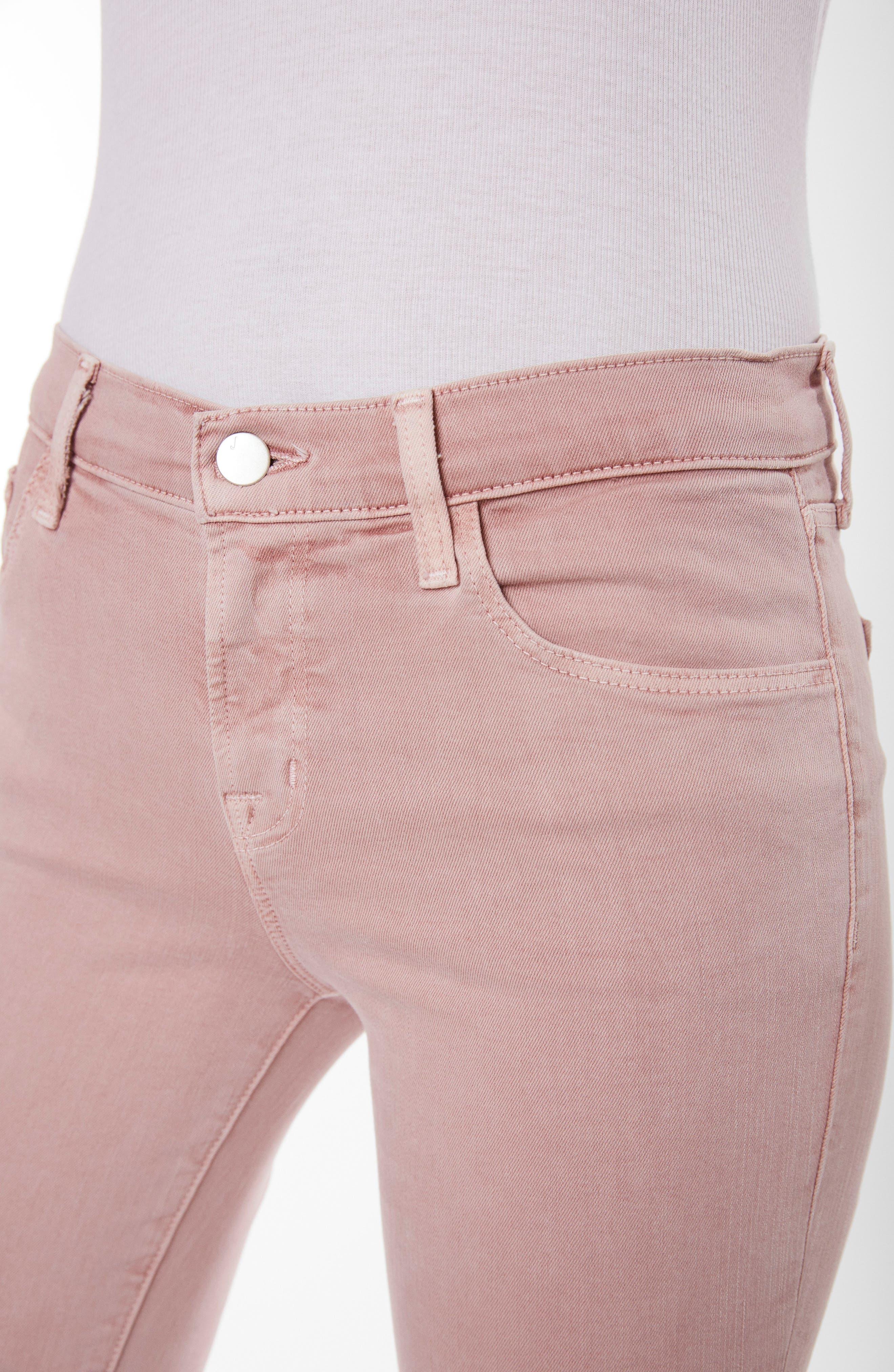 835 Capri Skinny Jeans,                             Alternate thumbnail 4, color,                             Vinca Destruct