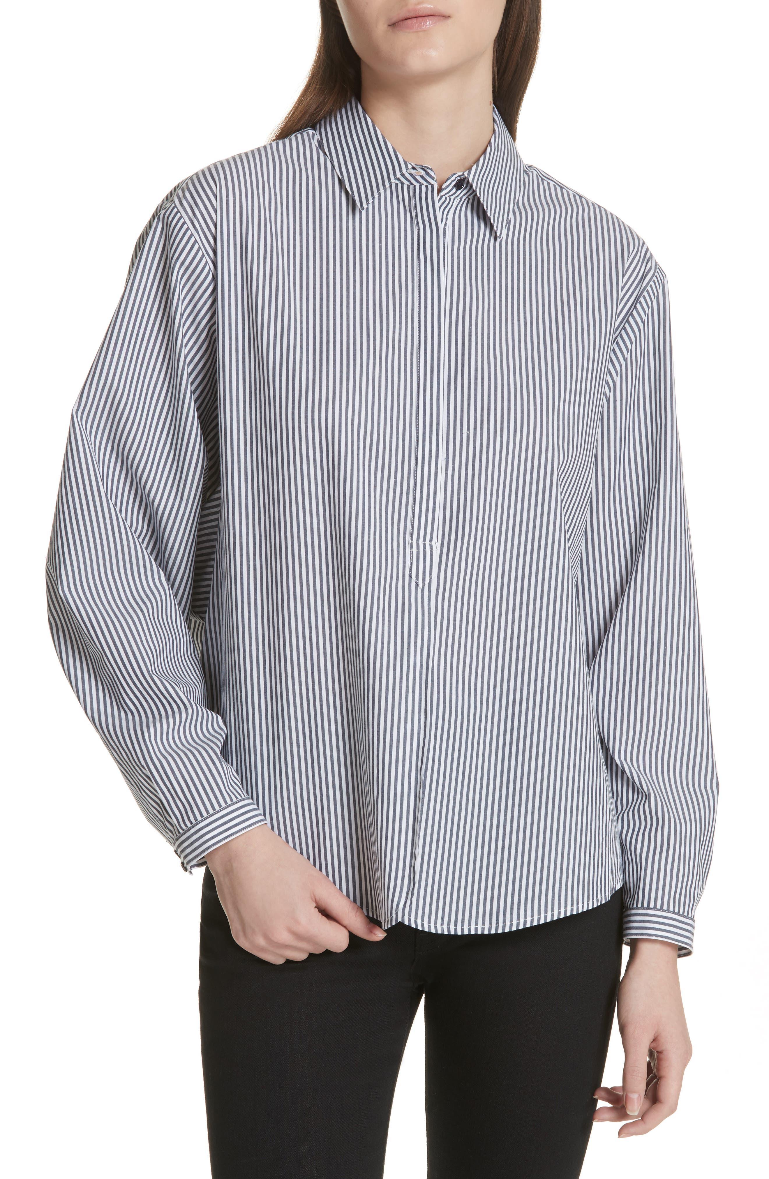 Anjanique Spread Collar Top,                         Main,                         color, Dark Navy