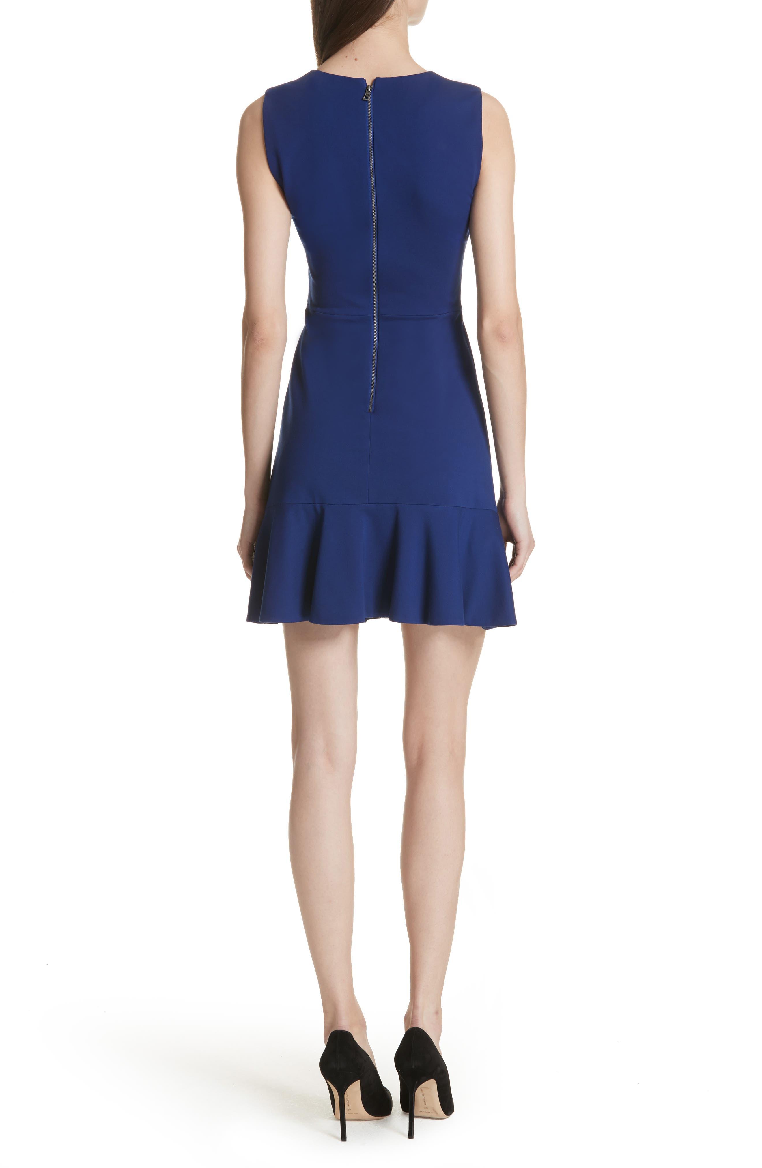 Alternate Image 2  - Alice + Olivia Onella Peplum Hem Fit & Flare Dress