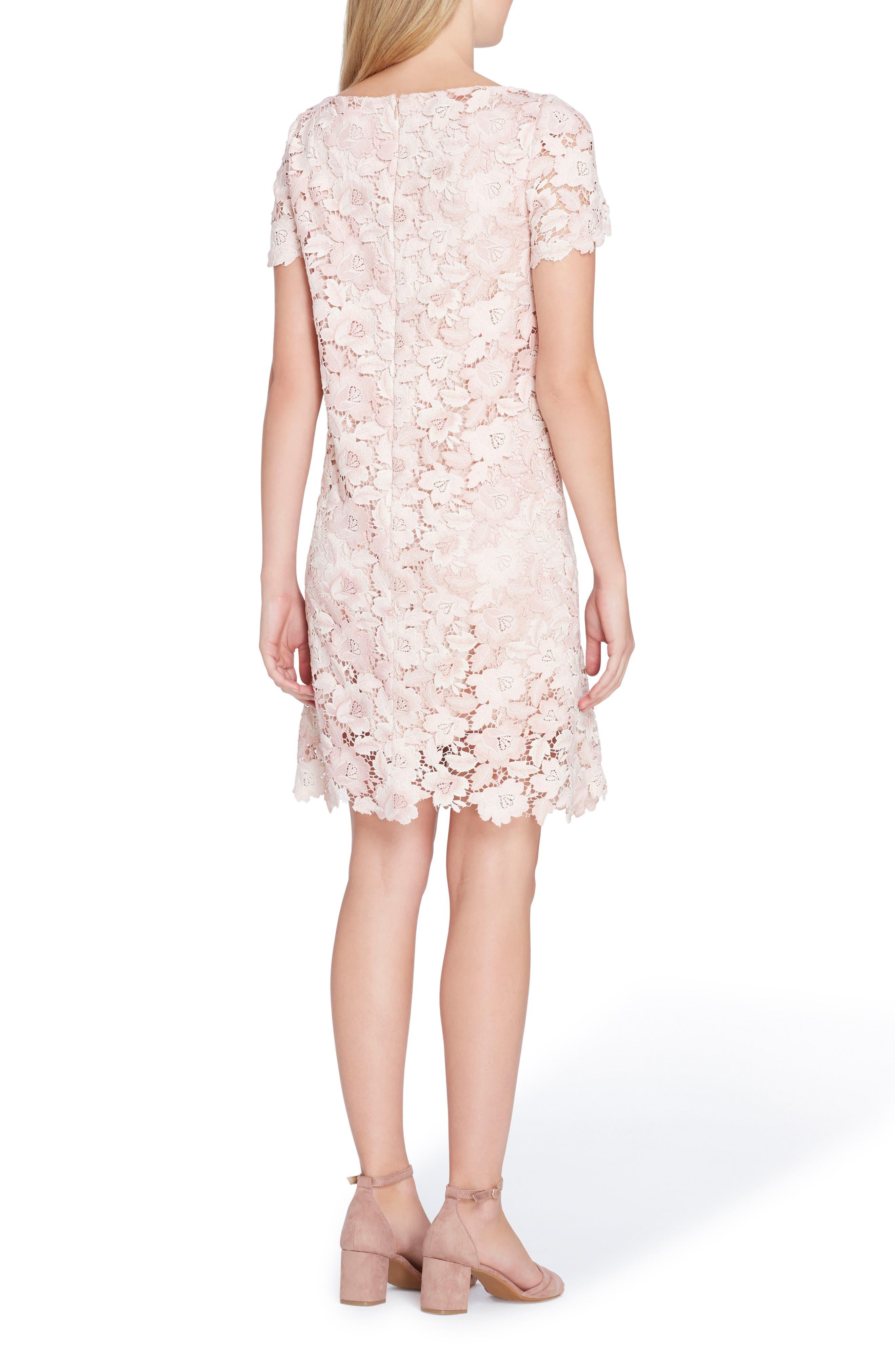Lace Sheath Dress,                             Alternate thumbnail 2, color,                             Ivory/ Blush
