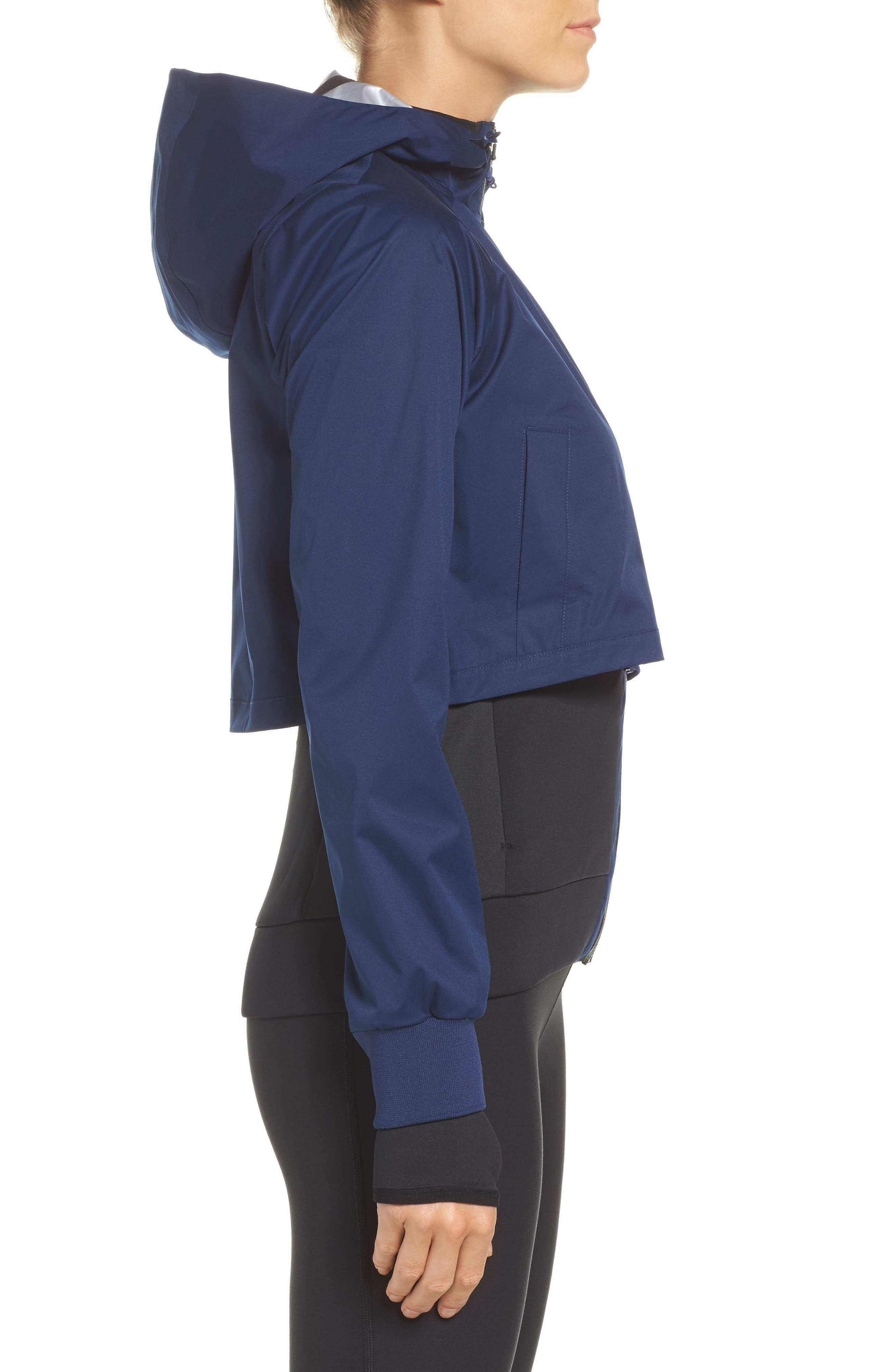 Therma Shield 2-in-1 Training Jacket,                             Alternate thumbnail 4, color,                             Binary Blue/ Black/ White