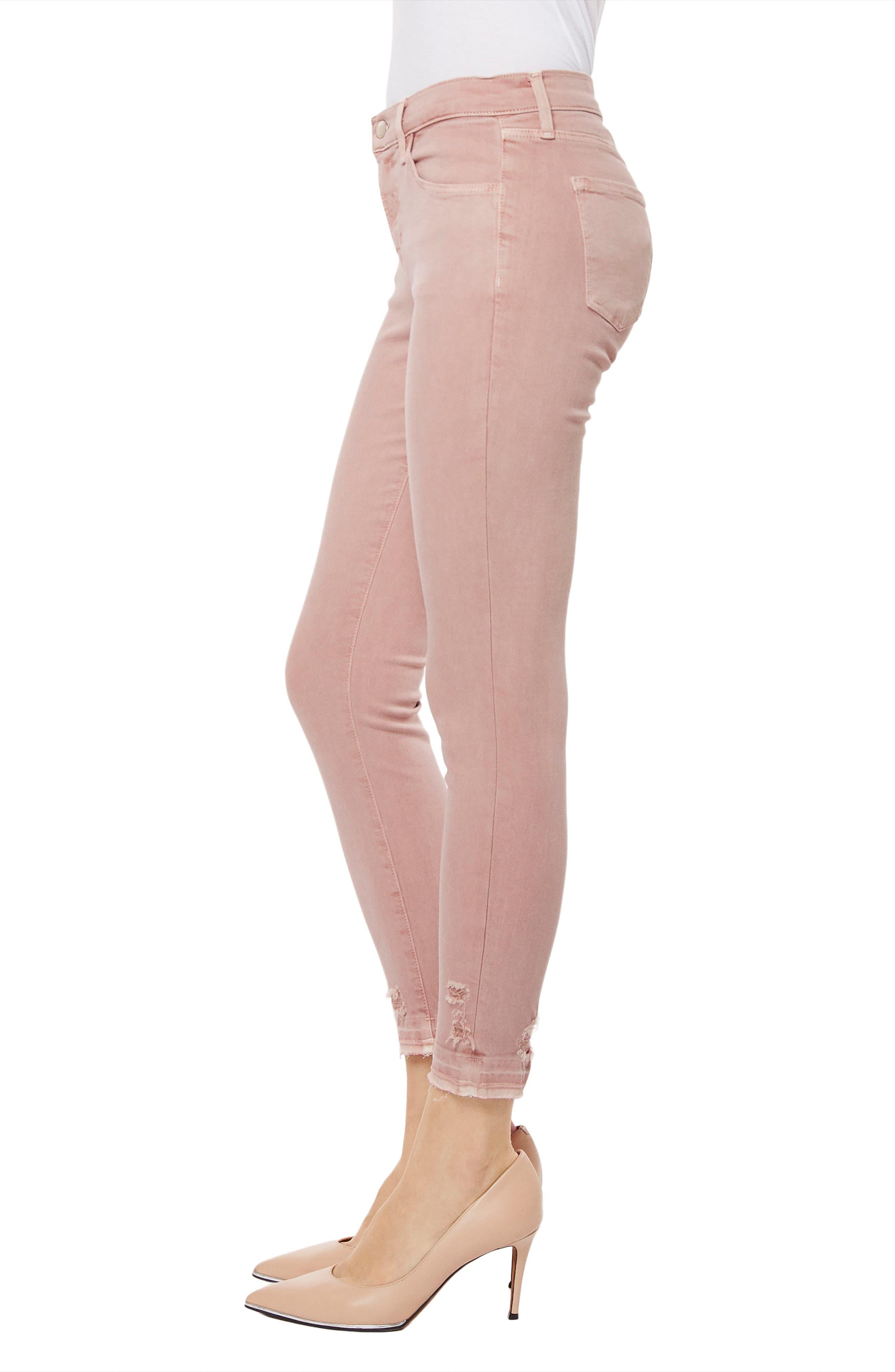 835 Capri Skinny Jeans,                             Alternate thumbnail 3, color,                             Vinca Destruct