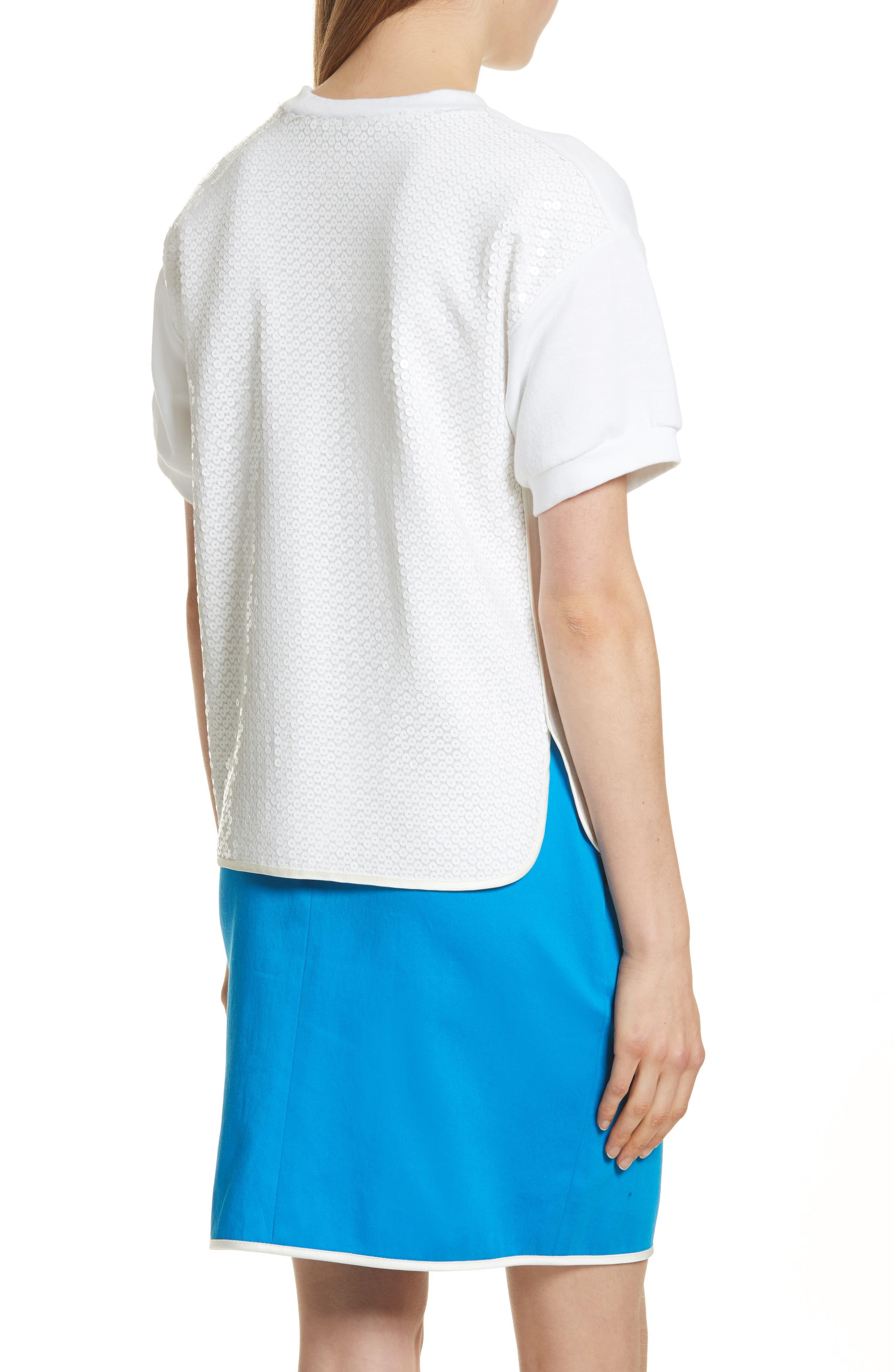 Sequin Back Sweatshirt,                             Alternate thumbnail 2, color,                             White