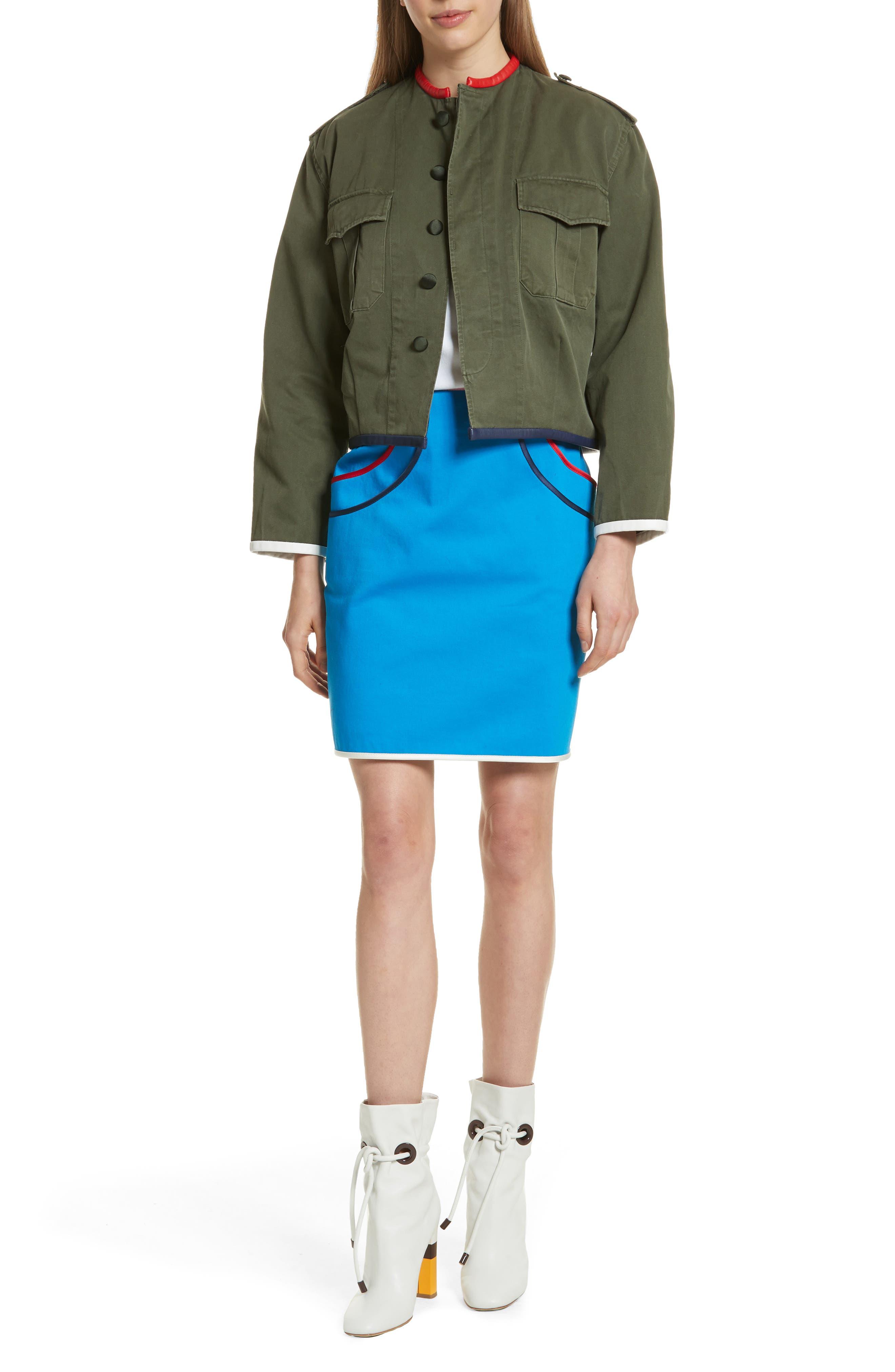 Alternate Image 8  - Harvey Faircloth Piping Detail Skirt