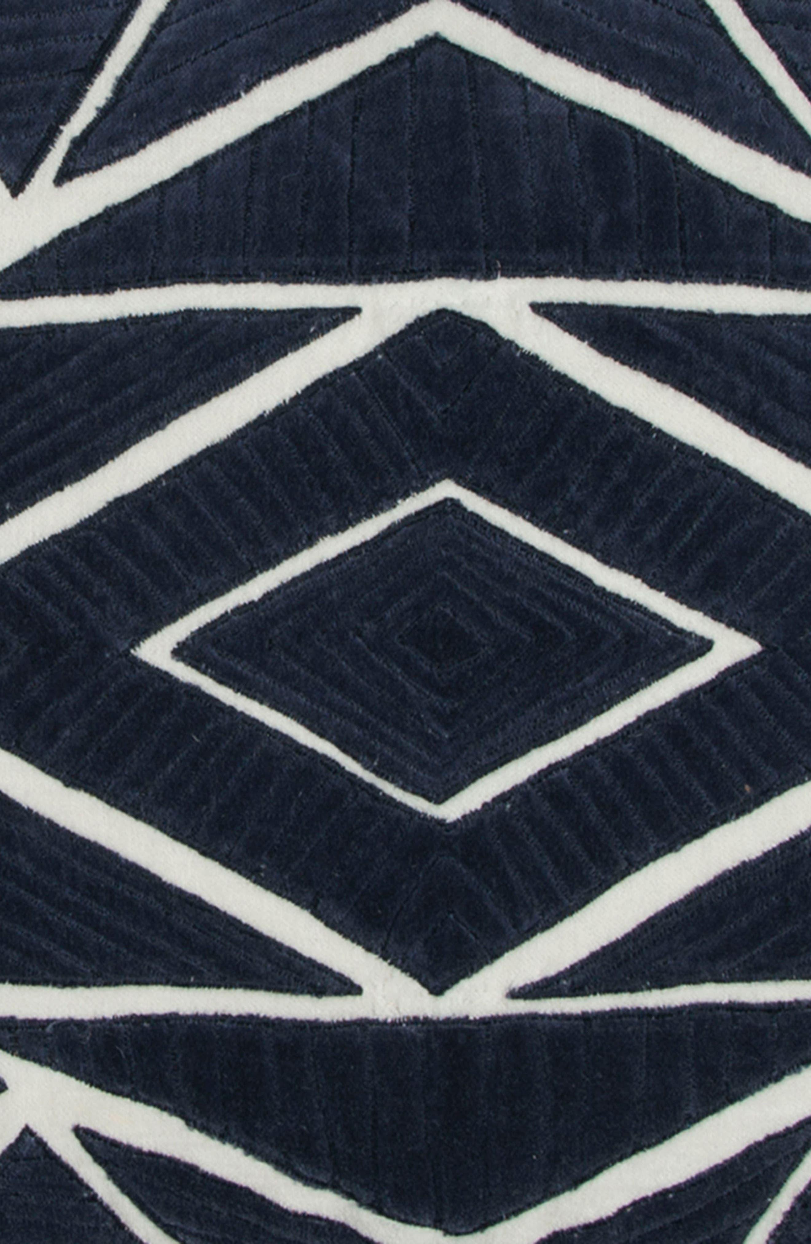 Geometric Accent Pillow,                             Alternate thumbnail 2, color,                             Indigo