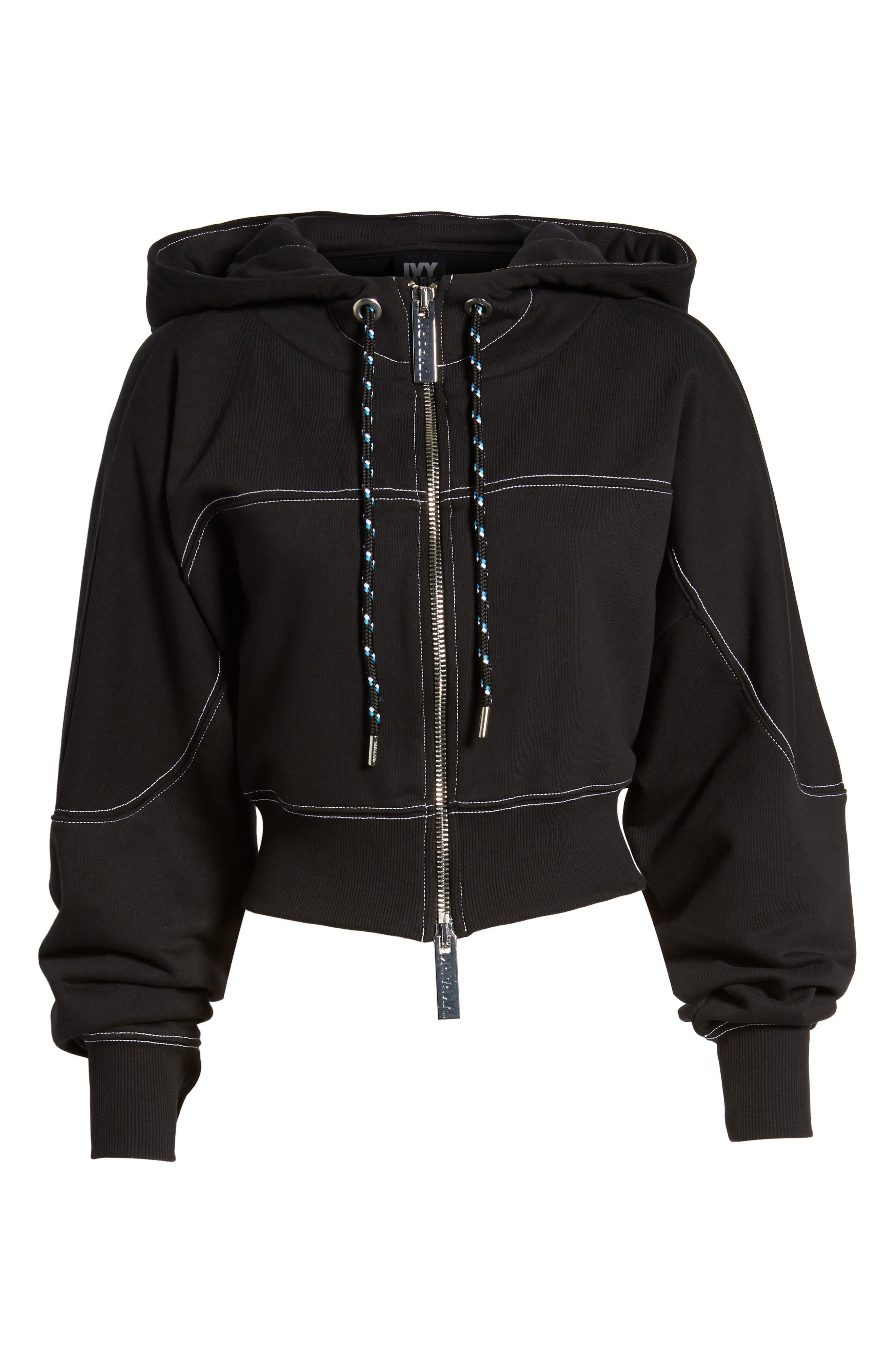 Alternate Image 6  - IVY PARK® Lace-Up Back Zip Through Hoodie