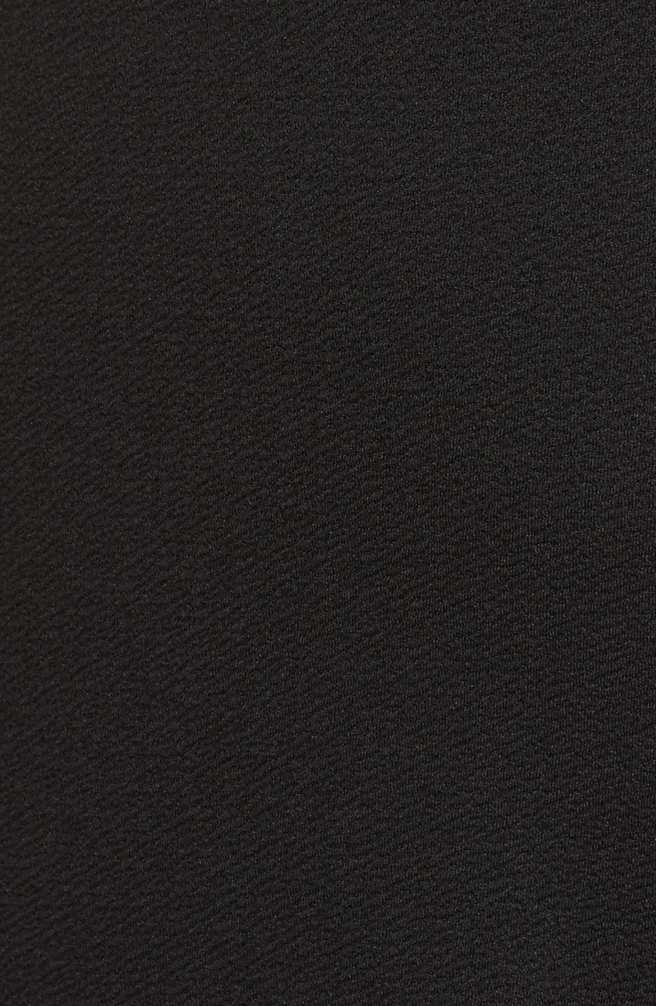 Ruffle Sleeve Romper,                             Alternate thumbnail 5, color,                             Black