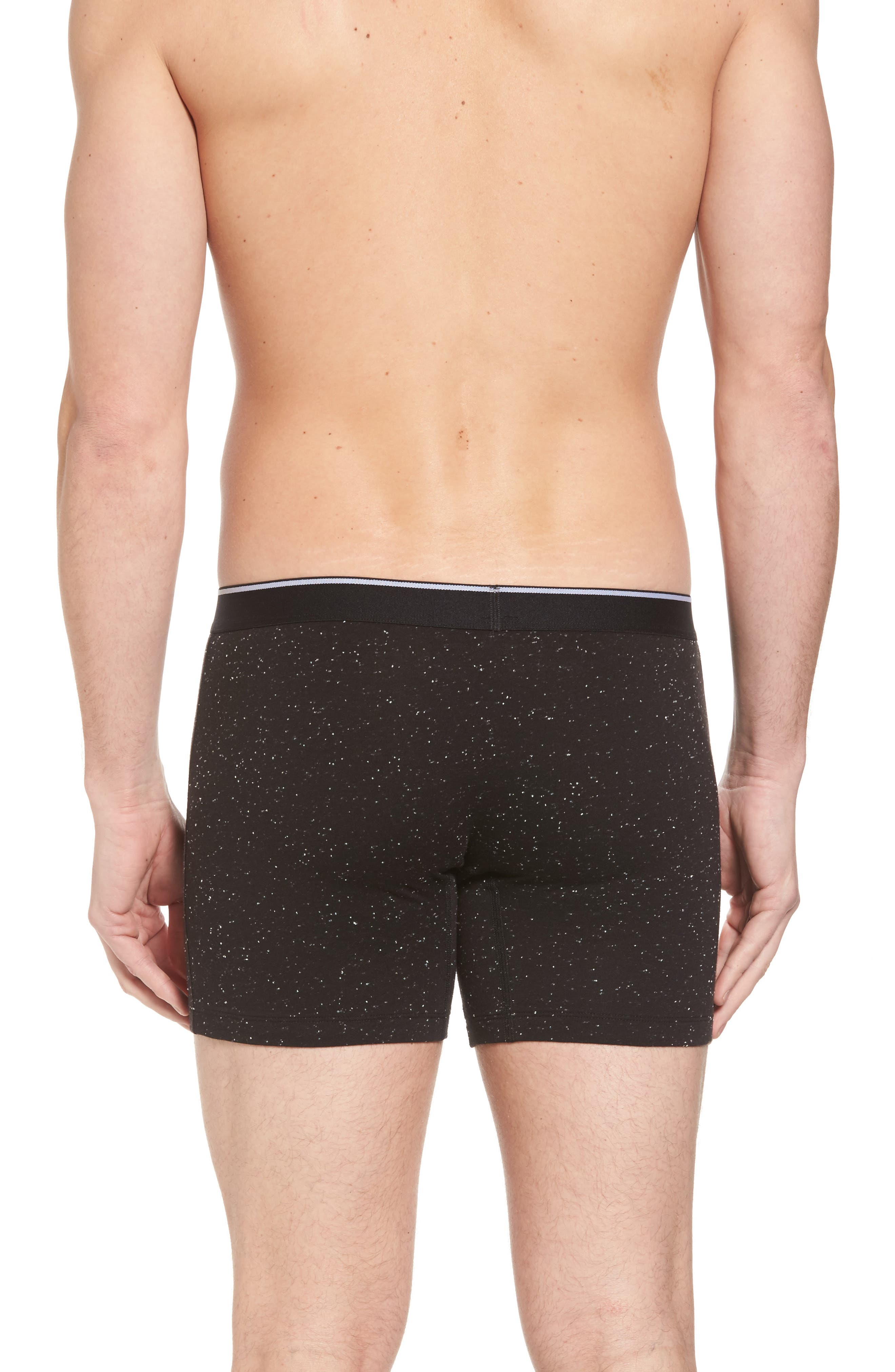 Nepped Boxer Briefs,                             Alternate thumbnail 2, color,                             Black- White Nepps