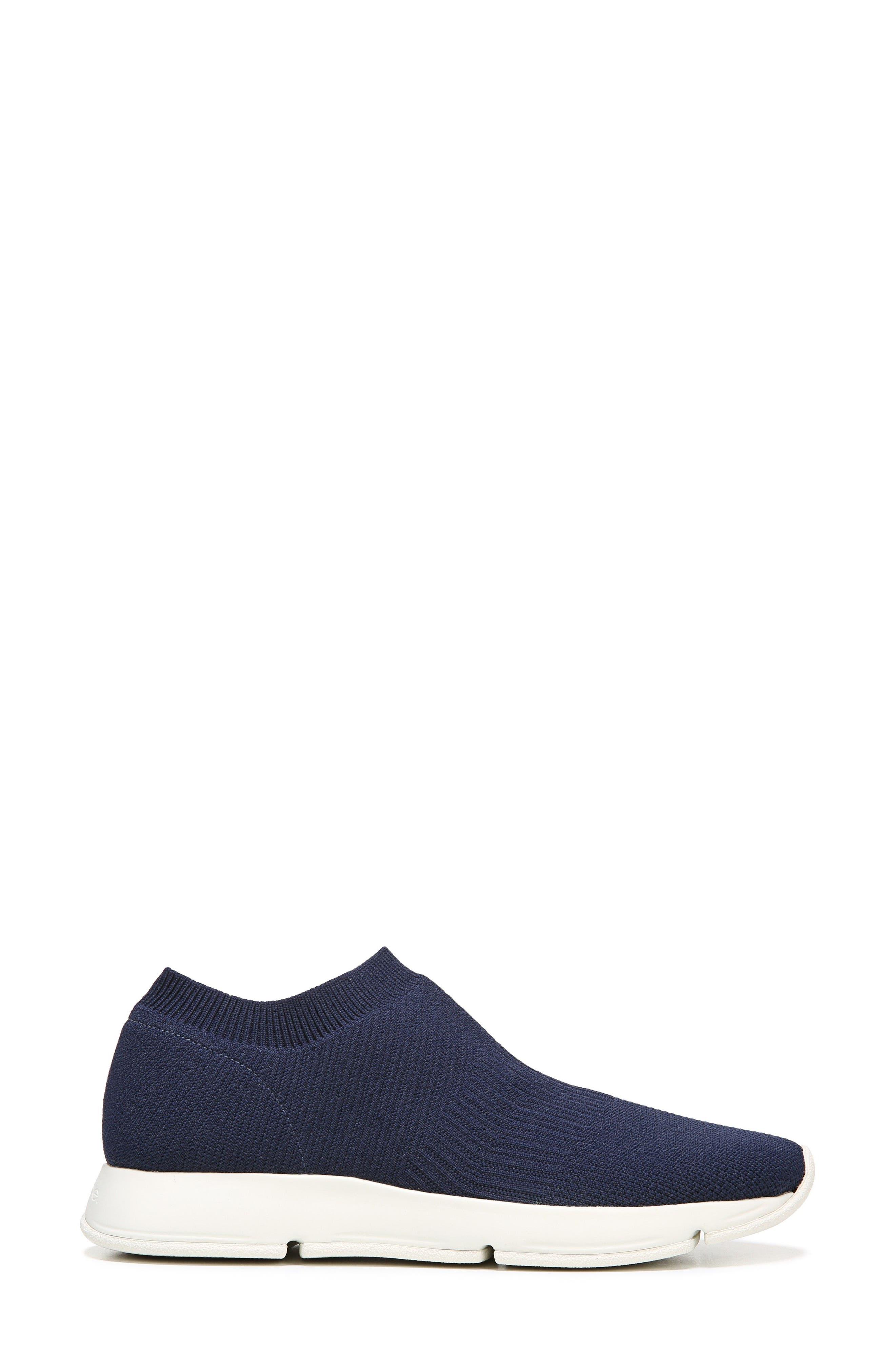 Theroux Slip-On Knit Sneaker,                             Alternate thumbnail 3, color,                             Navy