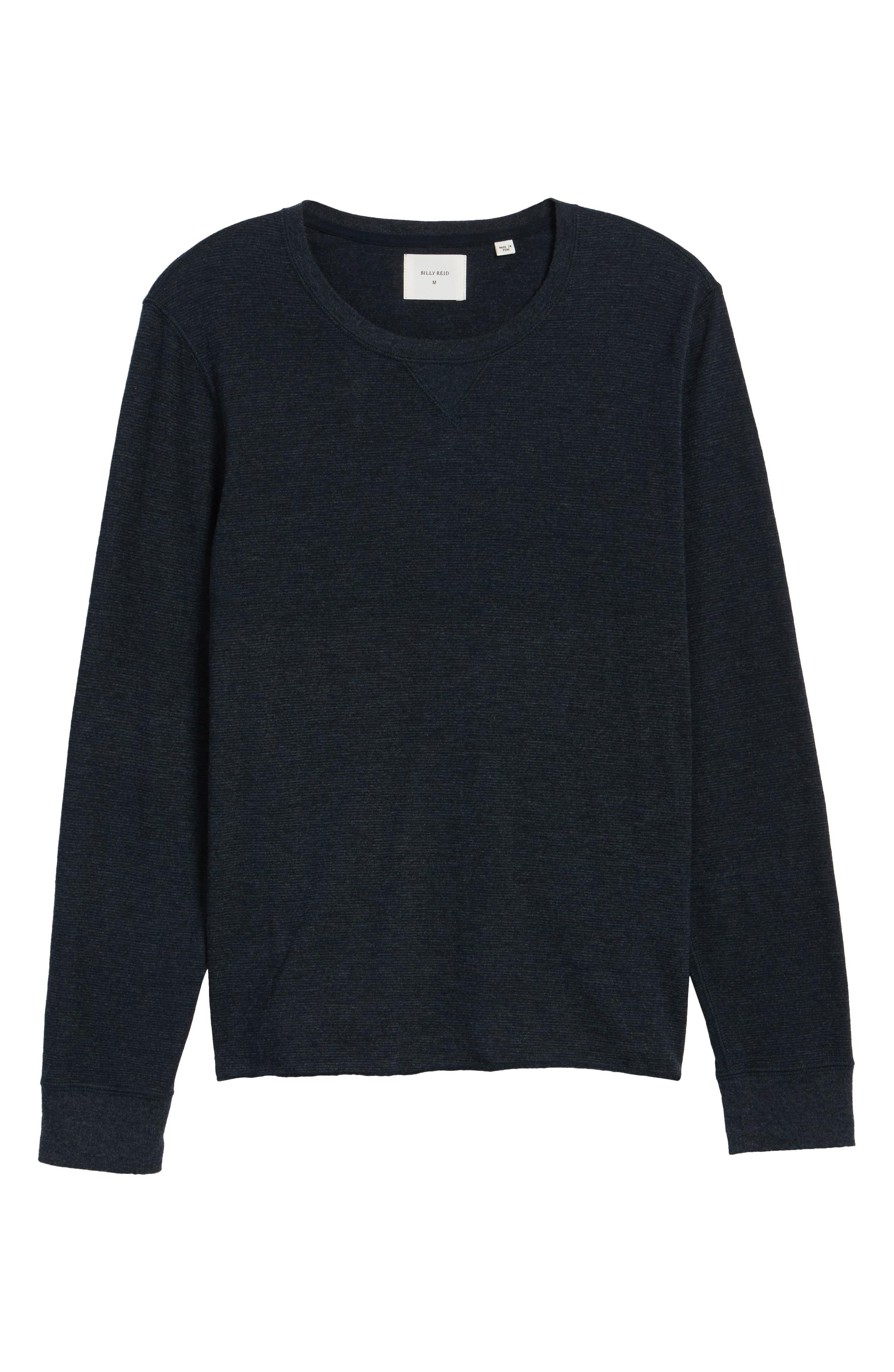 Dylan Stripe T-Shirt,                             Alternate thumbnail 6, color,                             Carbon Blue