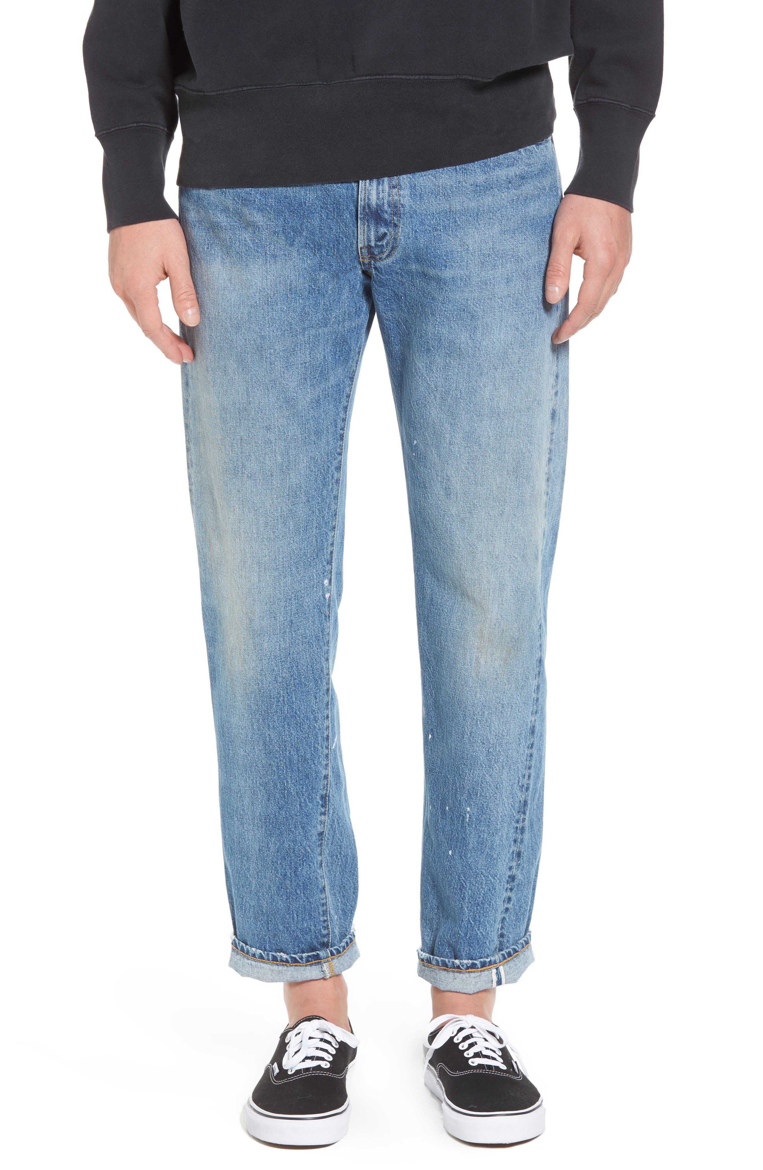 1954 501<sup>®</sup> Tapered Leg Jeans,                         Main,                         color, Baja Surf
