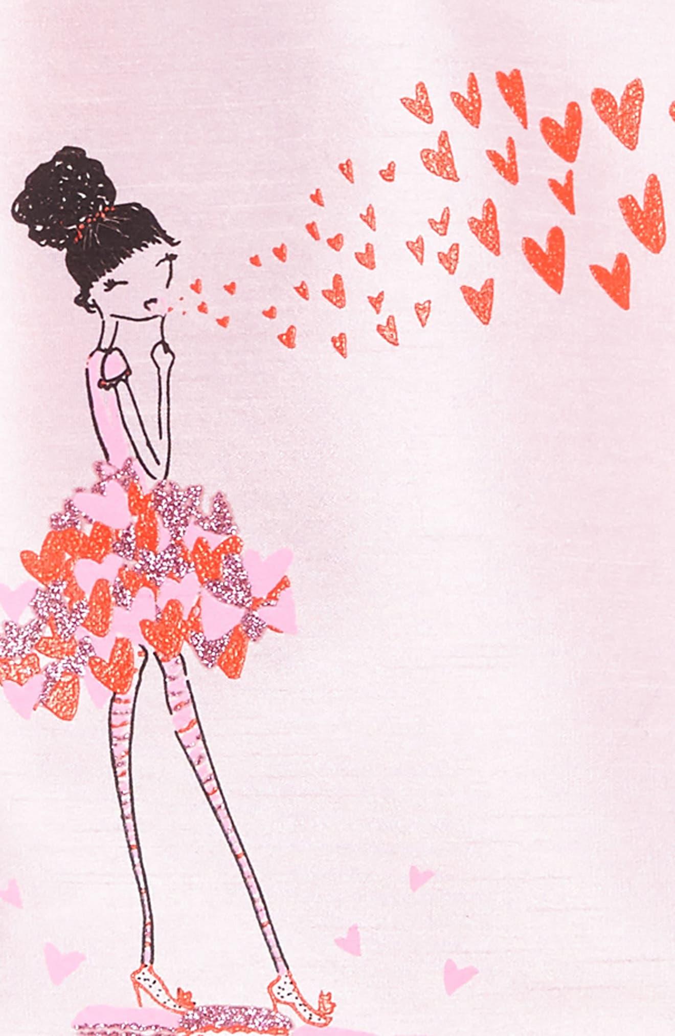 Kisses from Paris Party Dress,                             Alternate thumbnail 3, color,                             Pink