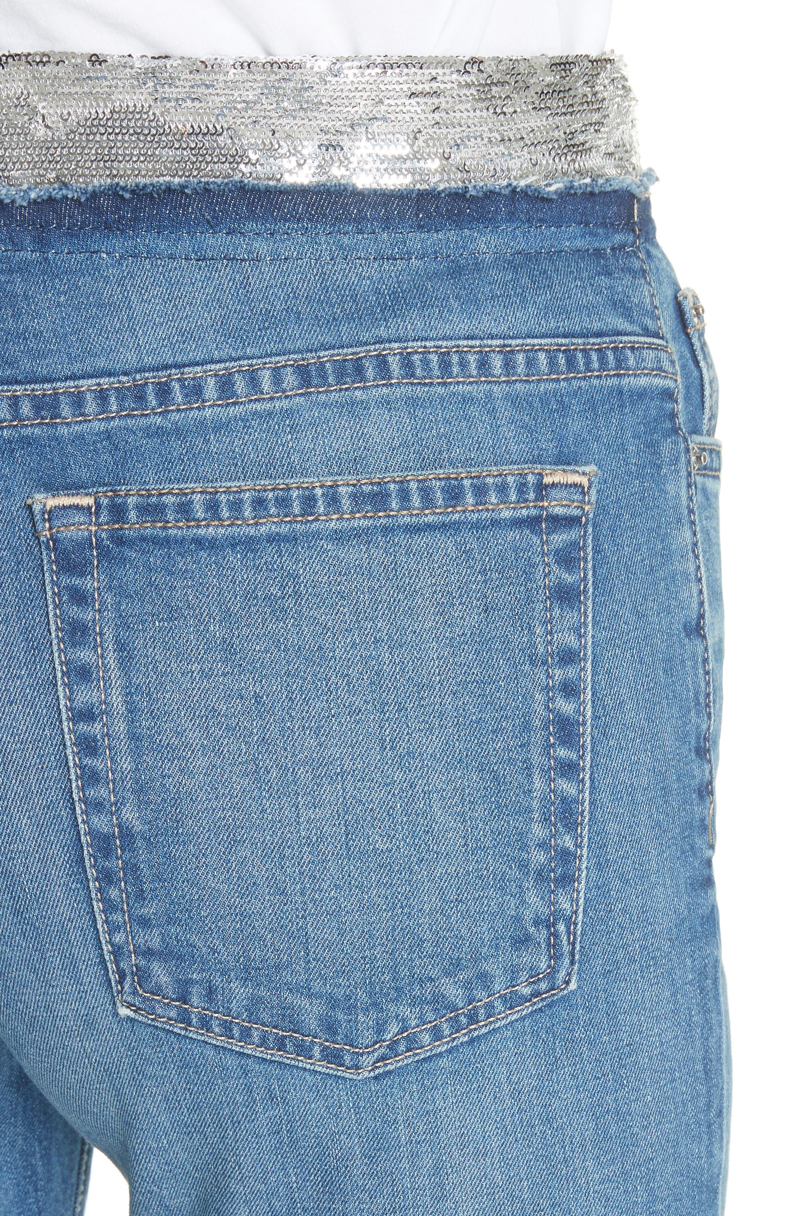 Jones Crop Jeans,                             Alternate thumbnail 4, color,                             Stone Blue