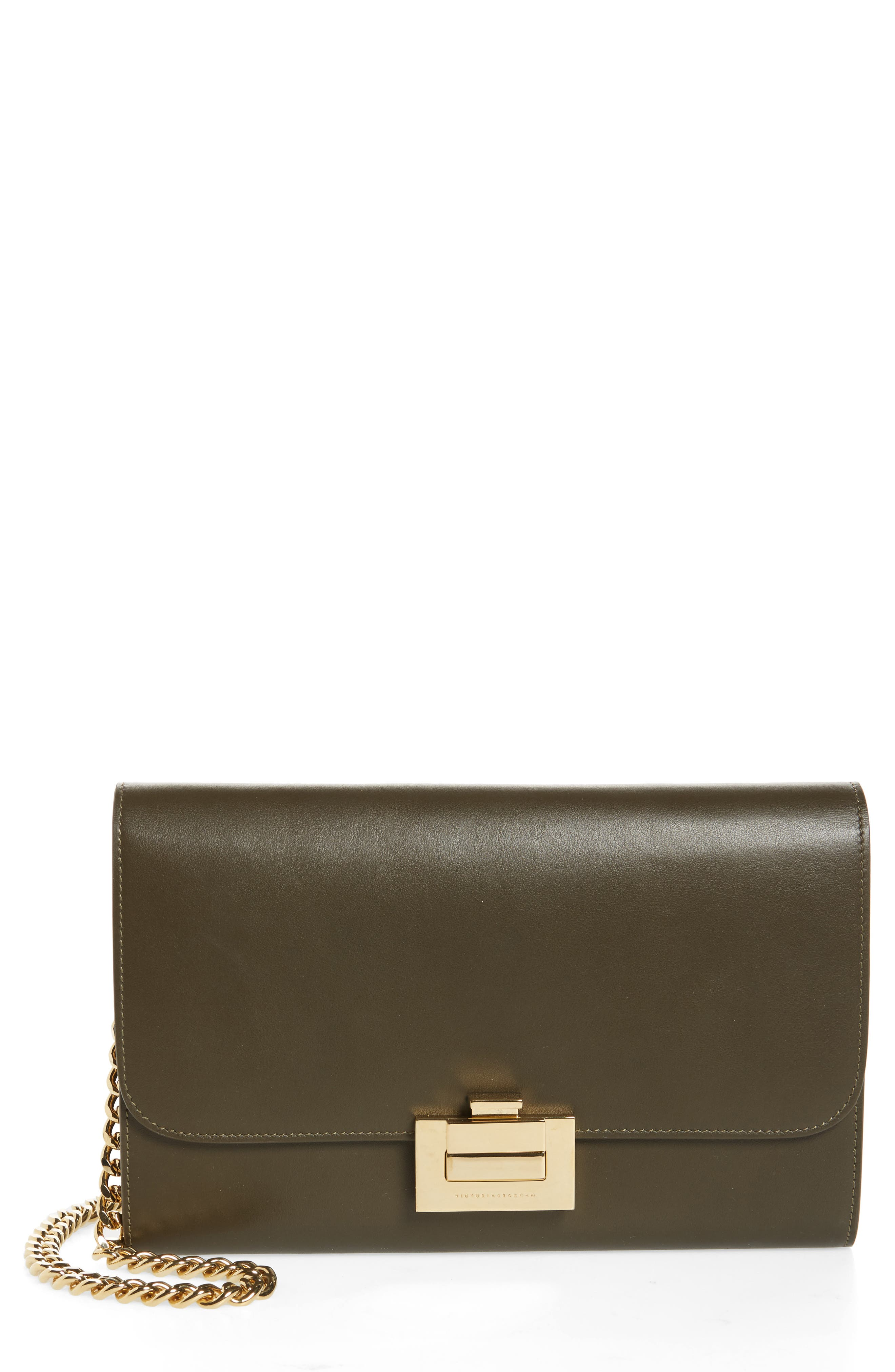 Victoria Beckham Leather Wallet on a Chain
