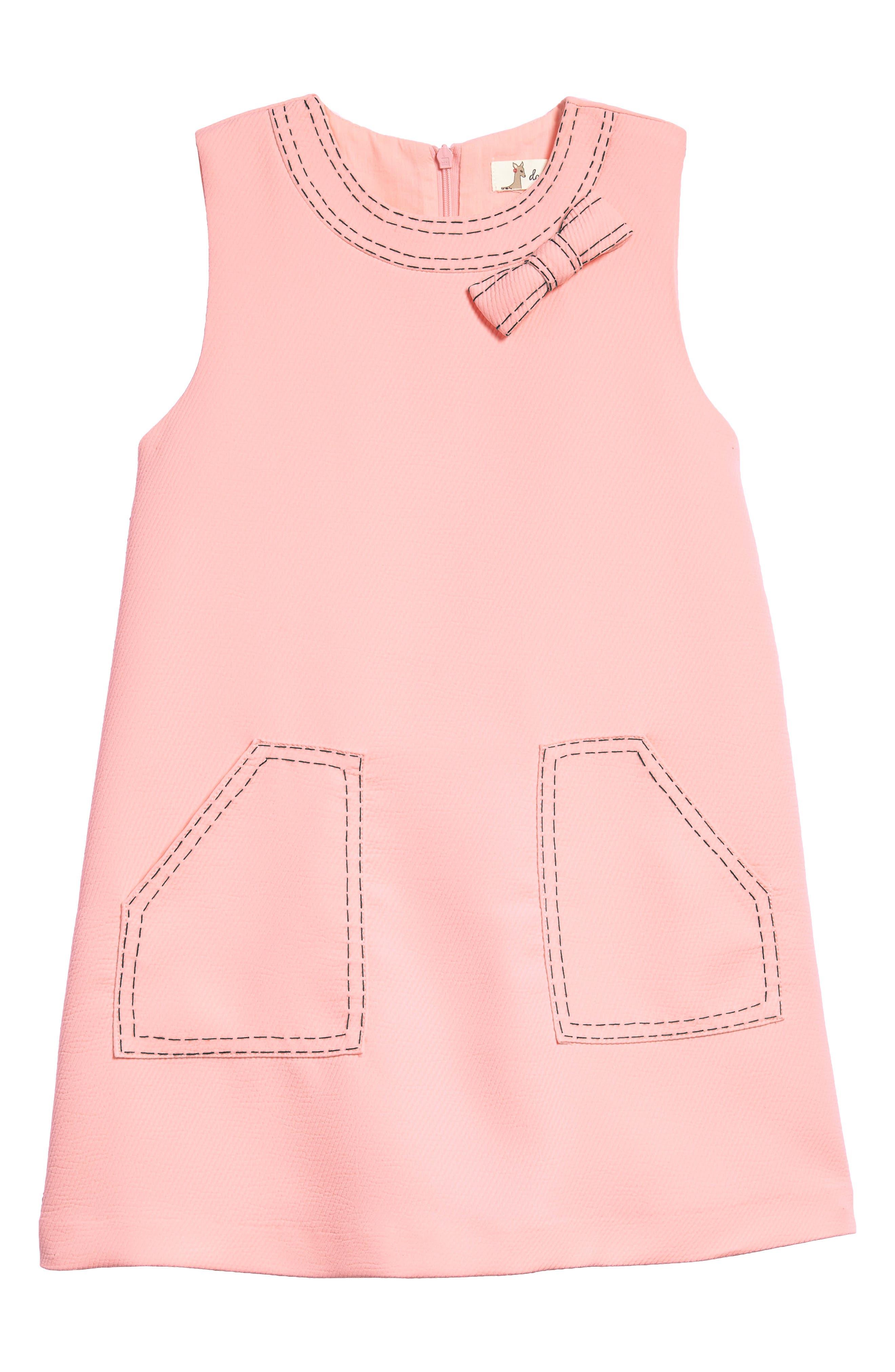 Mod Sleeveless Shift Dress,                             Main thumbnail 1, color,                             Pink
