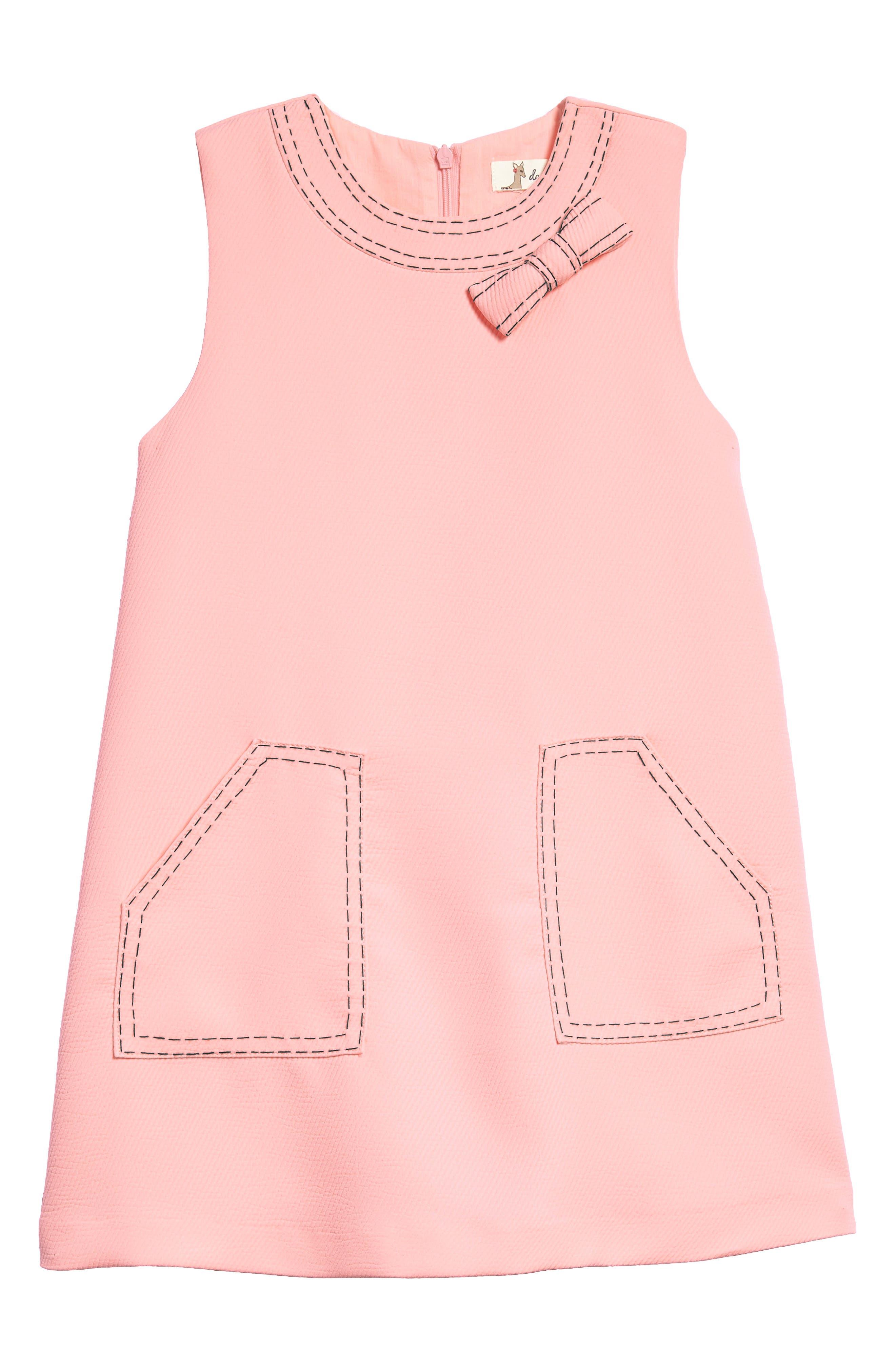 Mod Sleeveless Shift Dress,                         Main,                         color, Pink