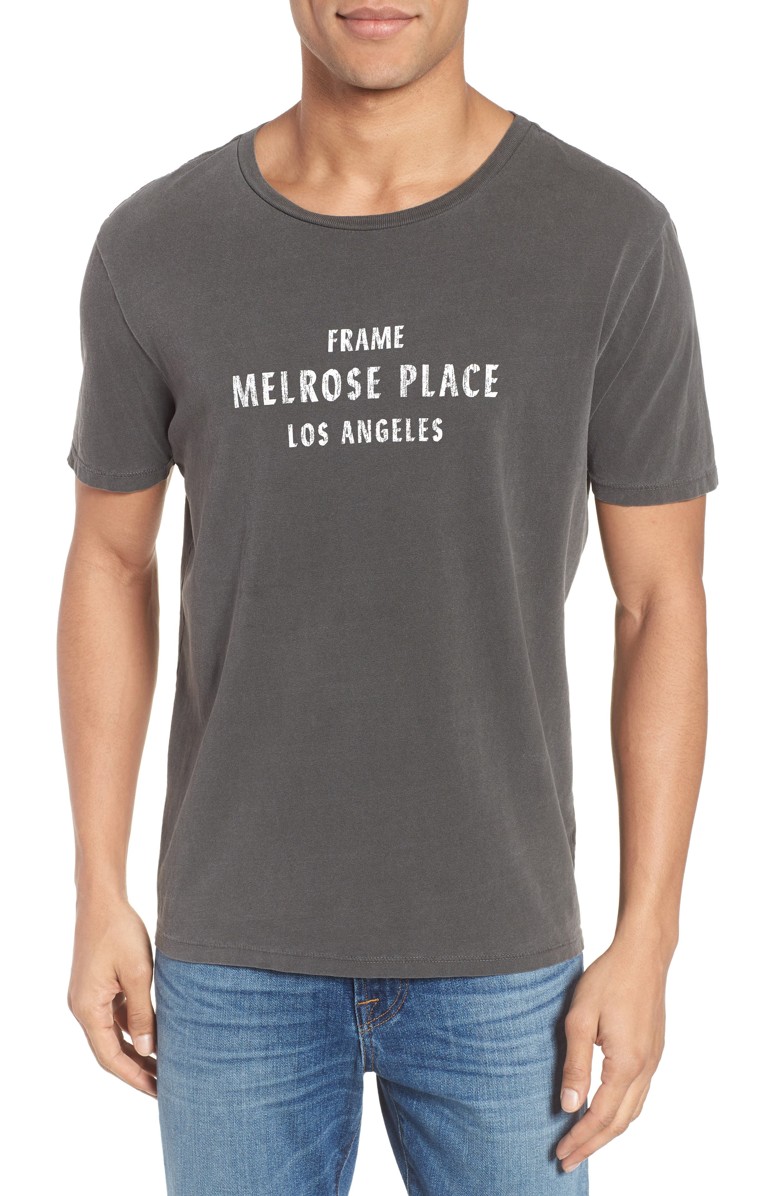 Melrose Place Vintage Graphic T-Shirt,                             Main thumbnail 1, color,                             Faded Noir