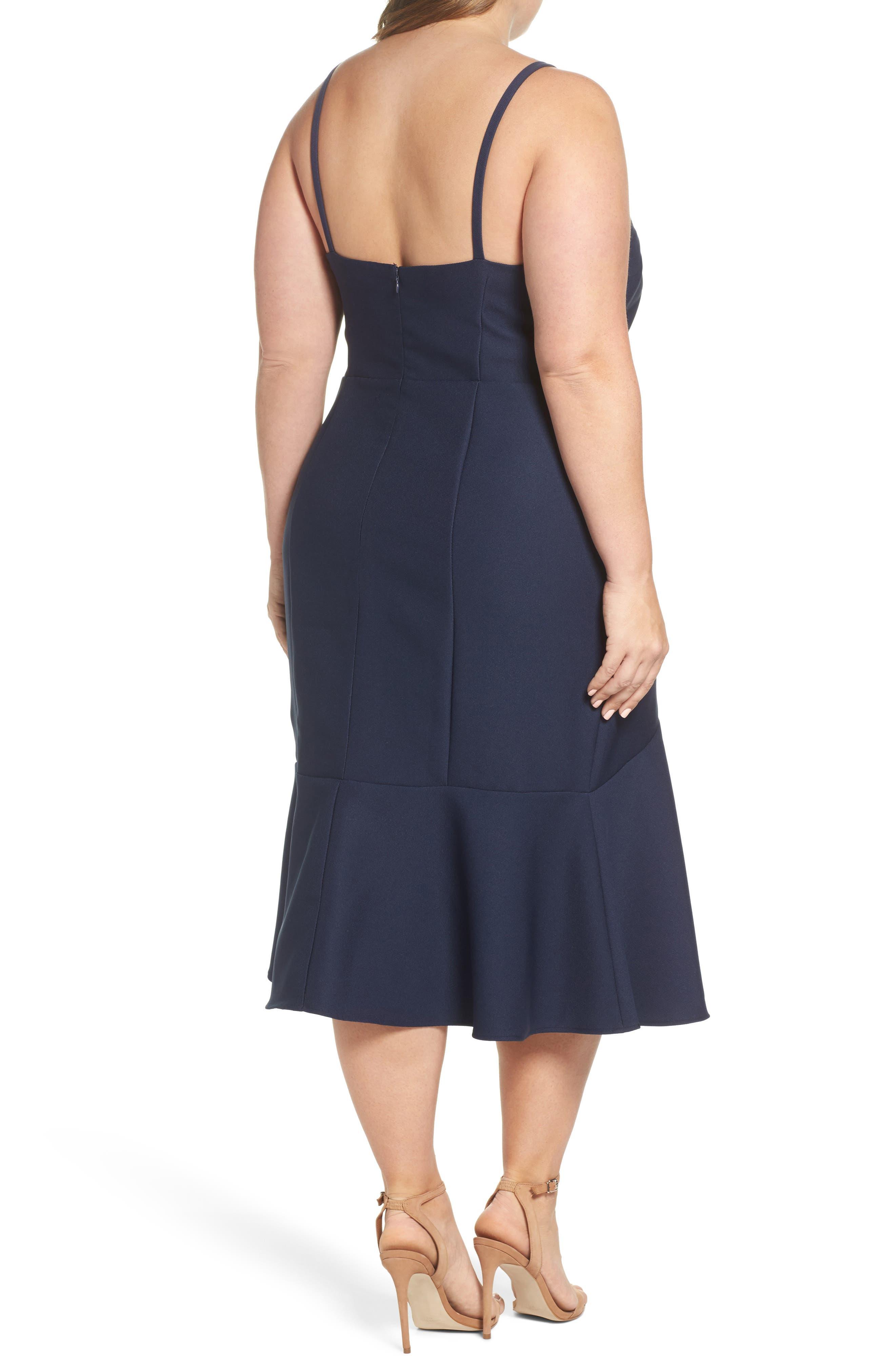 Alternate Image 2  - Cooper St Azalea Flounce Hem Dress (Plus Size)
