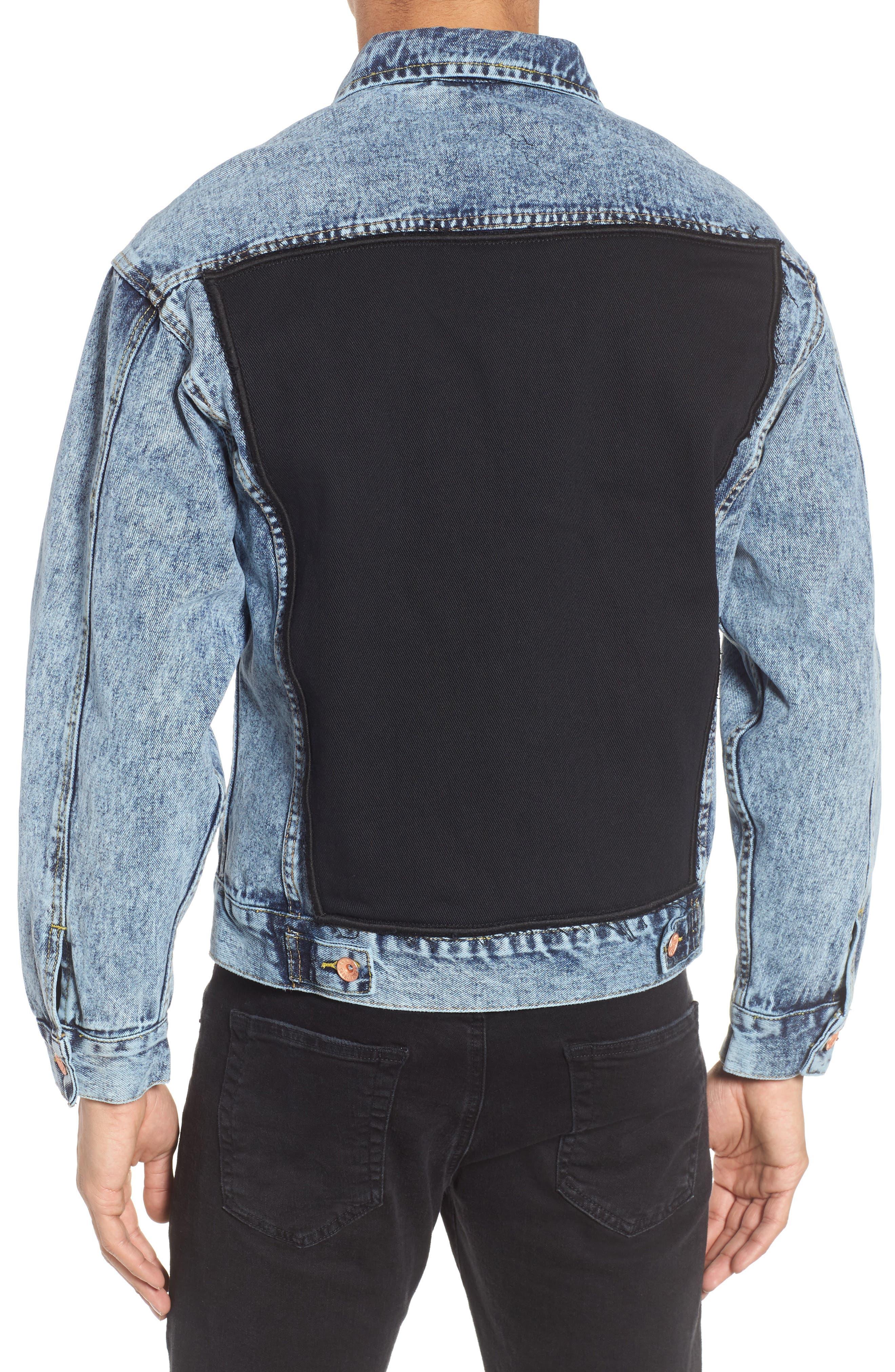 Classic Fit Denim Jacket,                             Alternate thumbnail 2, color,                             Blue Acid Wash