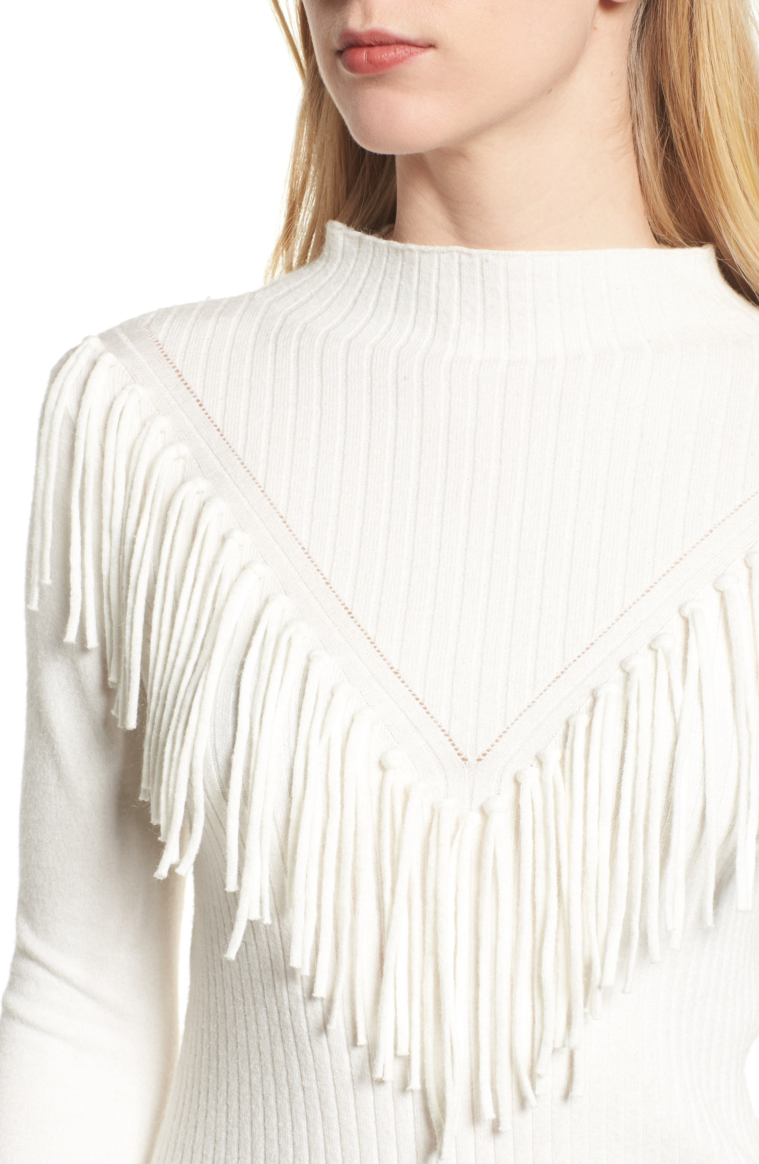 Alternate Image 4  - Bishop + Young Fringe Sweater