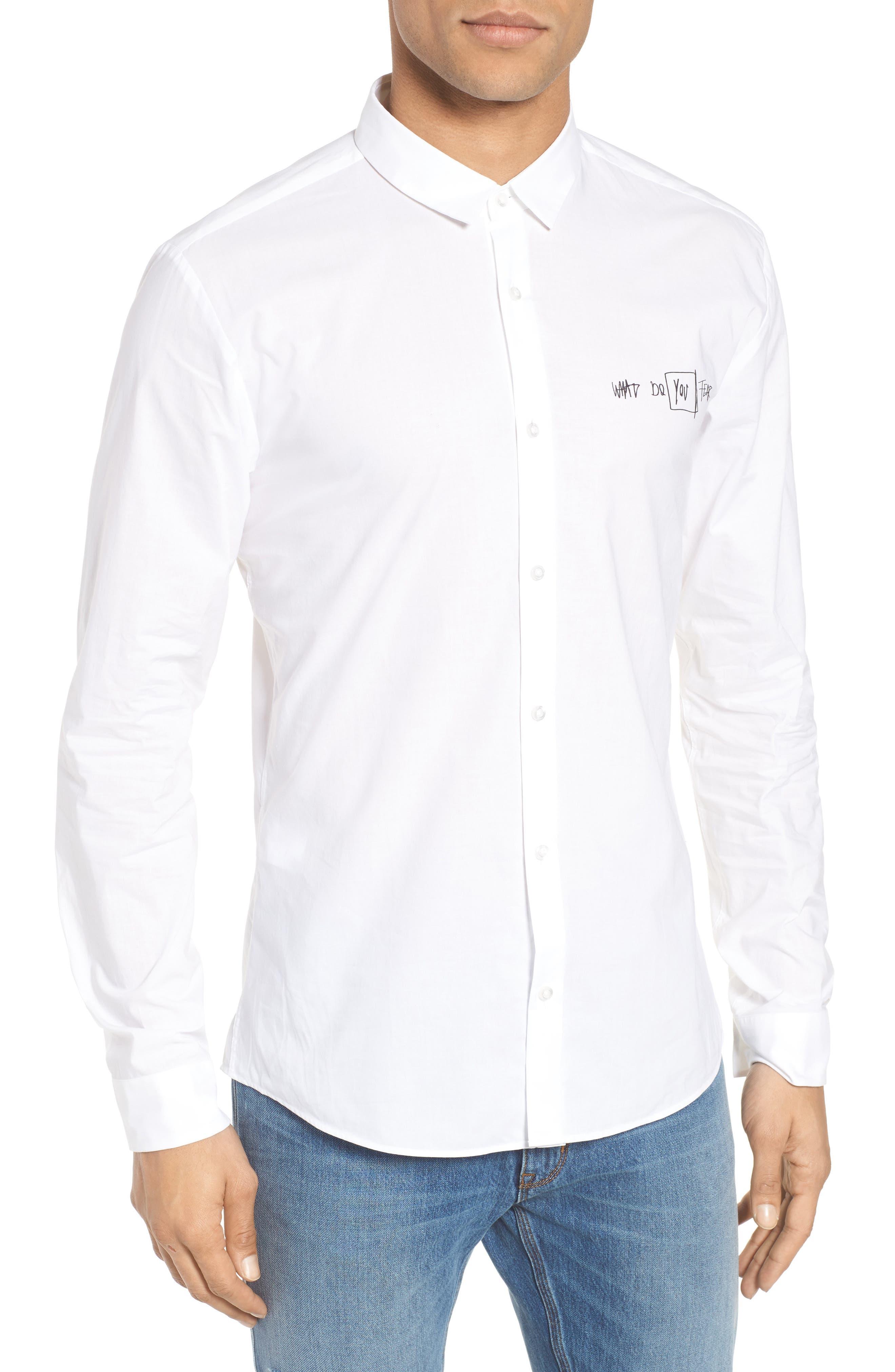 Hugo Boss Ero Slim Fit Graphic Sport Shirt