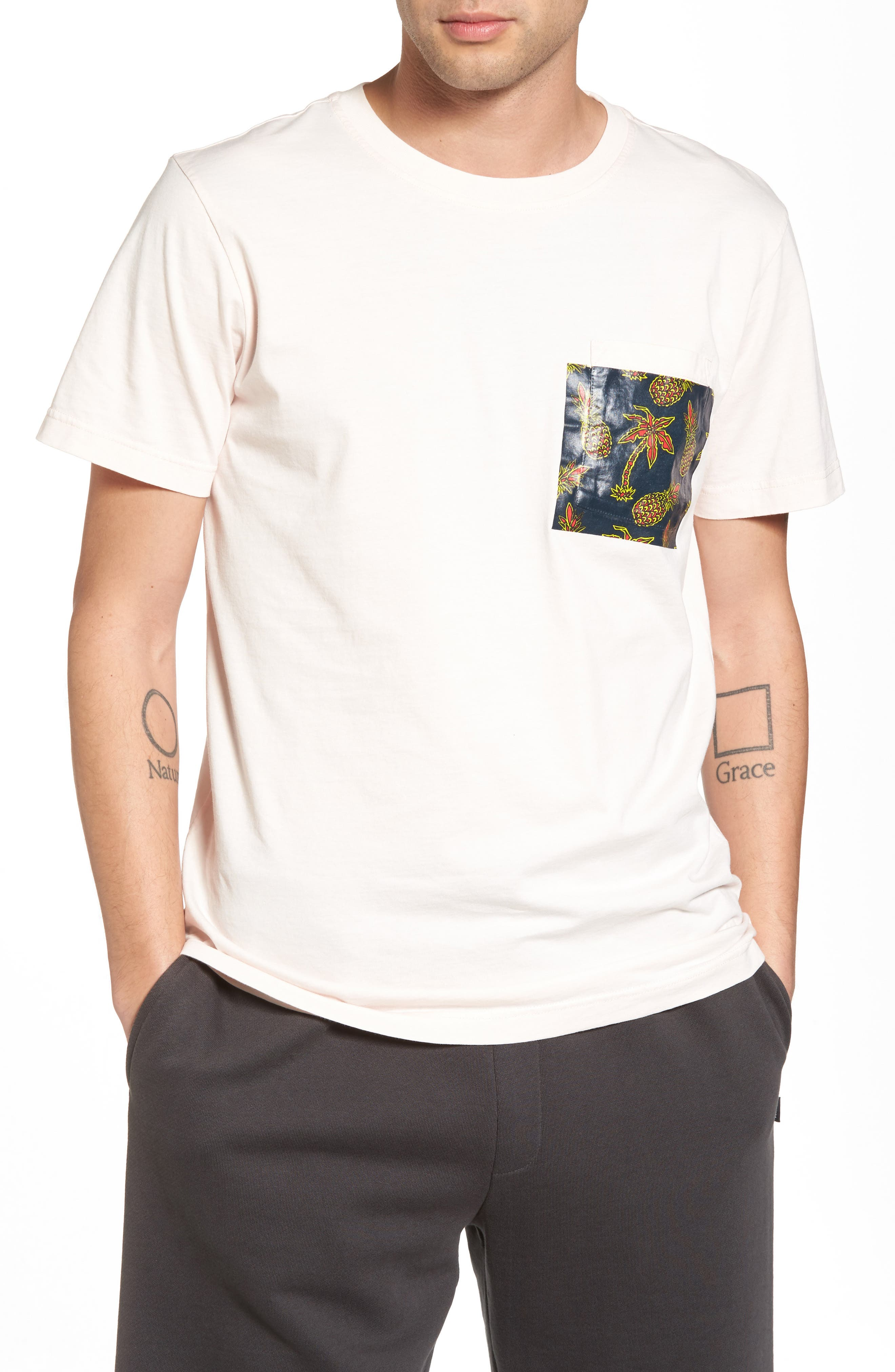 Alternate Image 1 Selected - WeSC Maxwell Pineapple Pocket T-Shirt