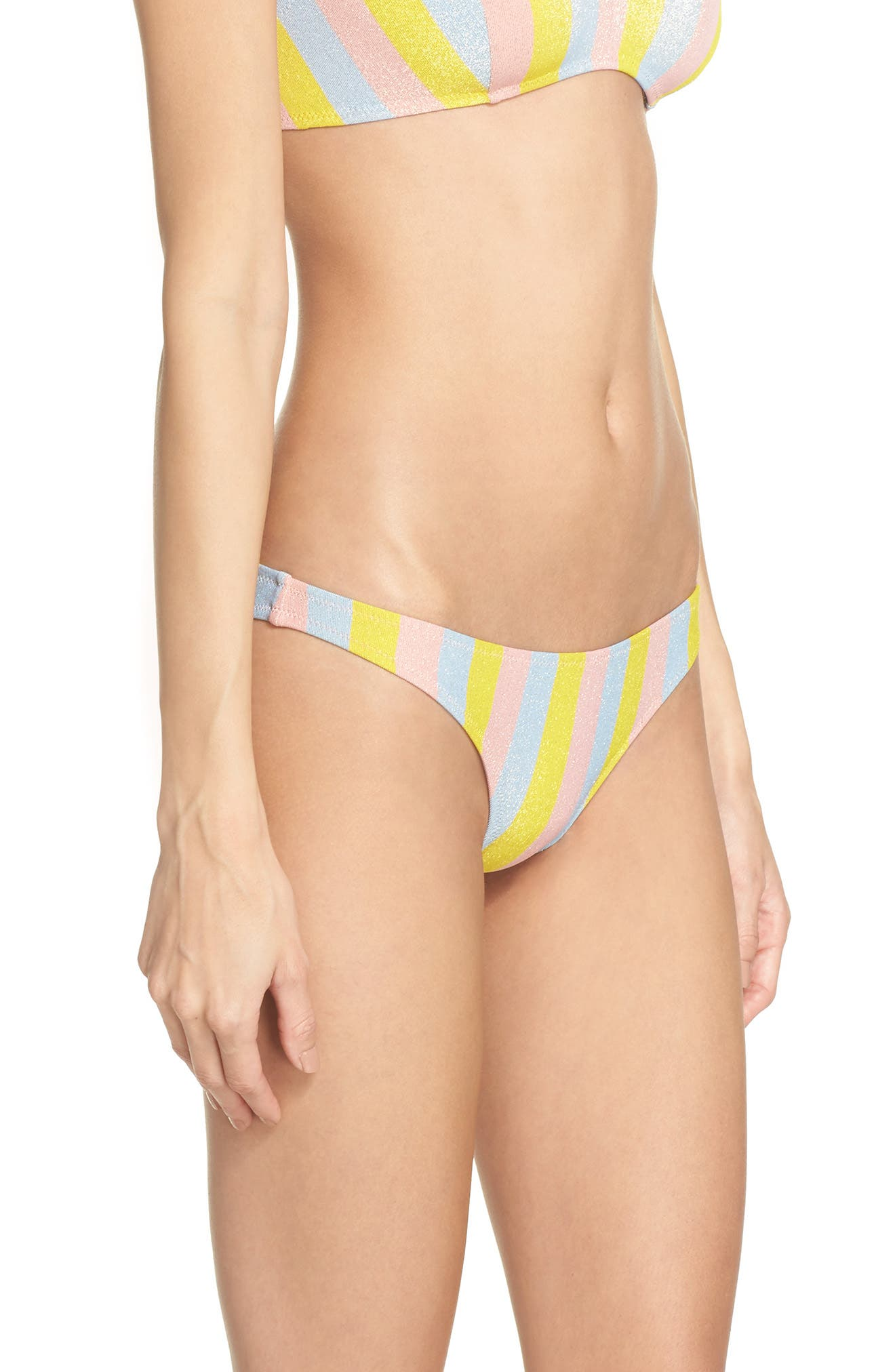 The Rachel Bikini Bottoms,                             Alternate thumbnail 3, color,                             Yellow/ Blue/ Pink