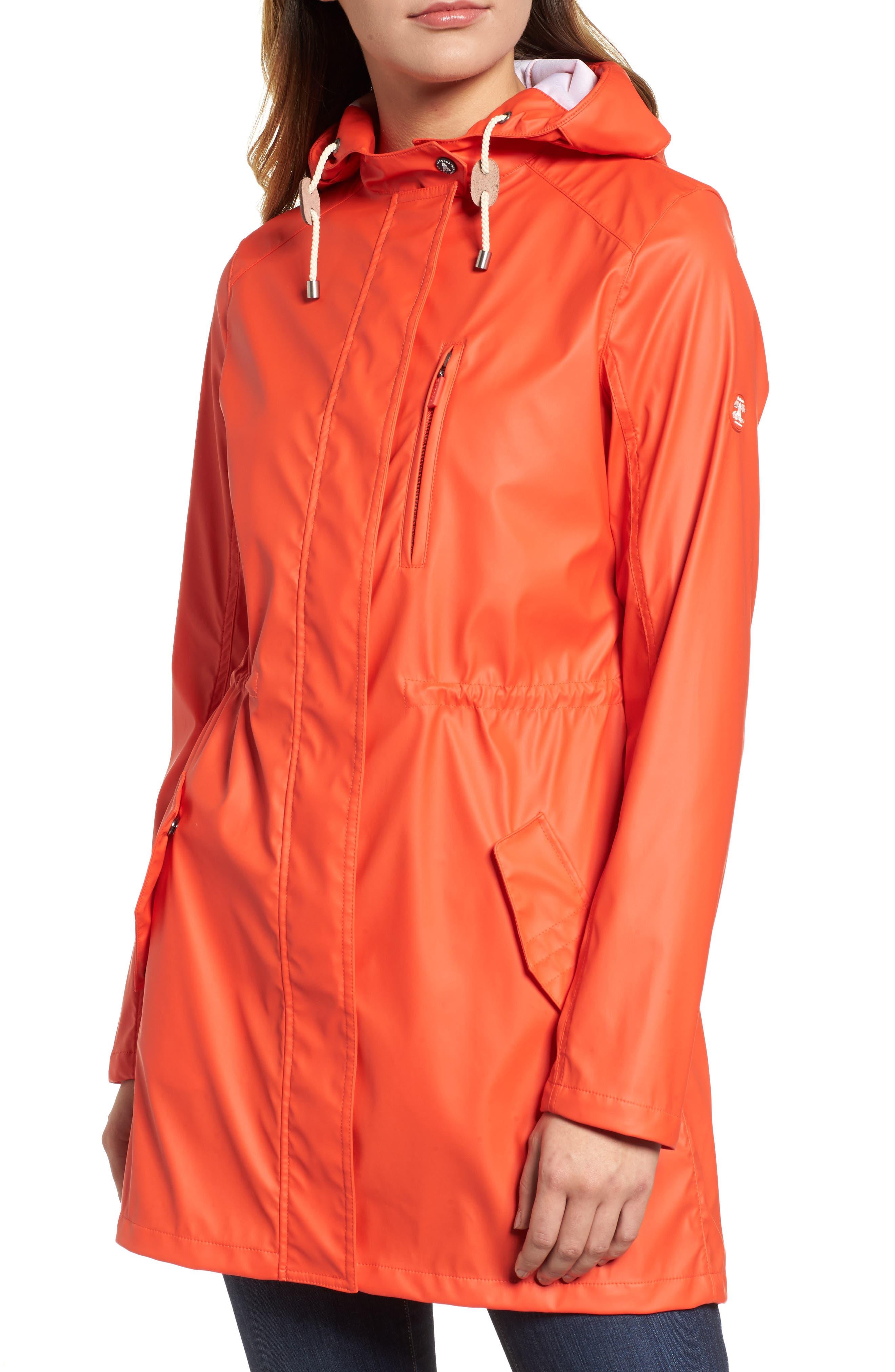 Harbour Hooded Jacket,                             Alternate thumbnail 4, color,                             Signal Orange