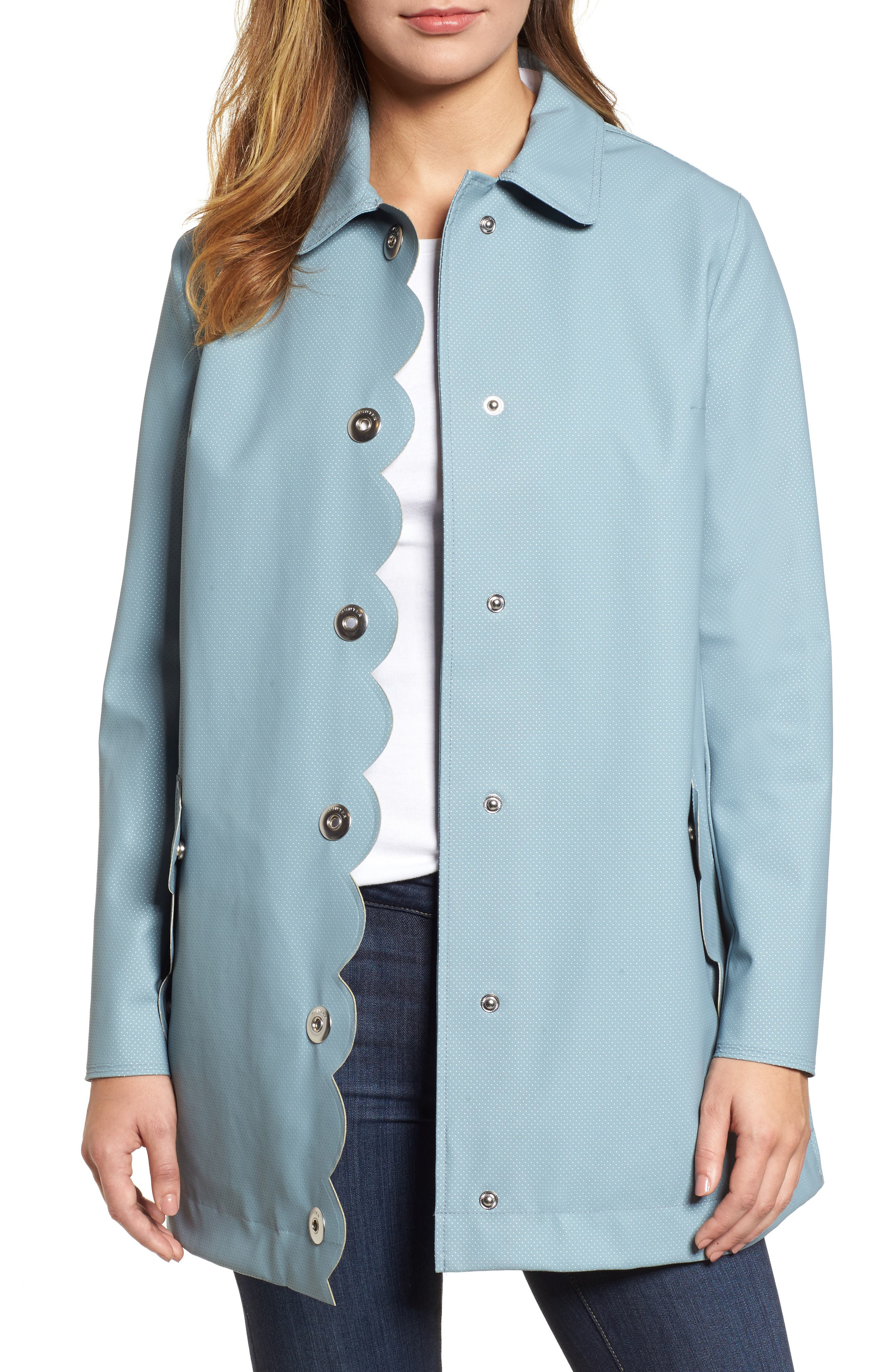Main Image - Hunter Refined Perforated A-Line Coat