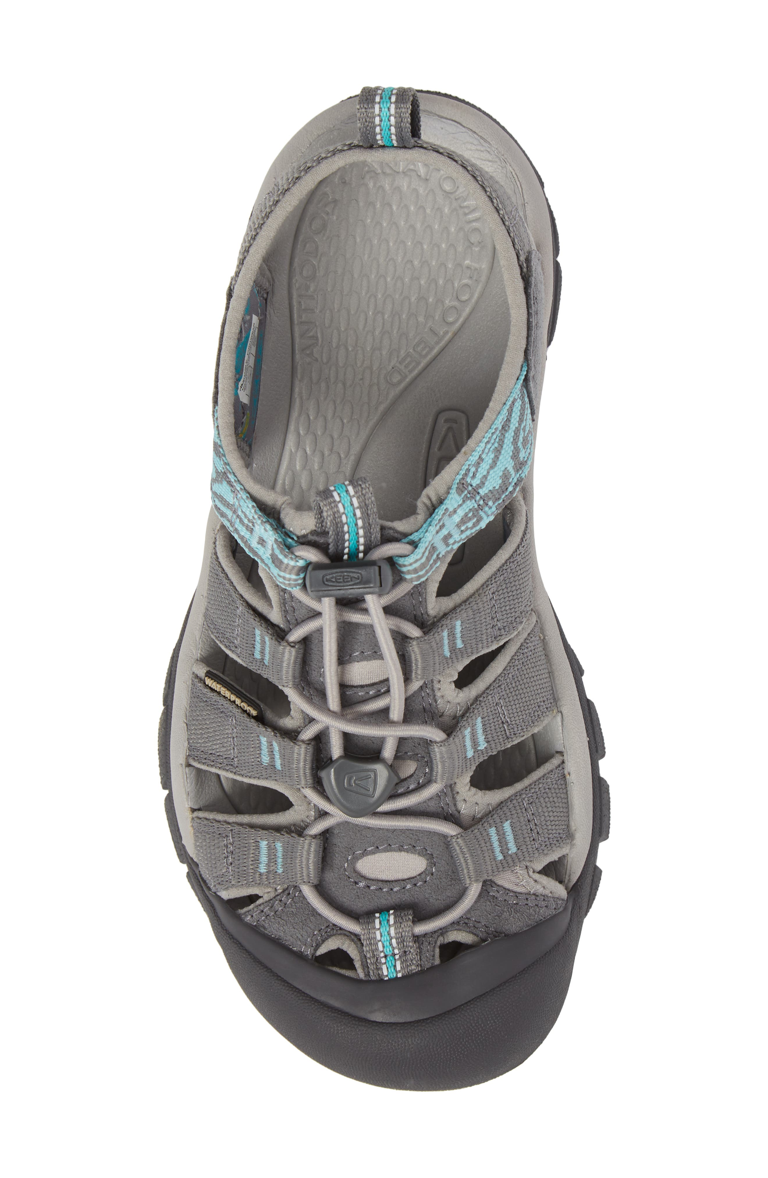 Newport Hydro Sandal,                             Alternate thumbnail 5, color,                             Steel Grey/ Blue Turquoise