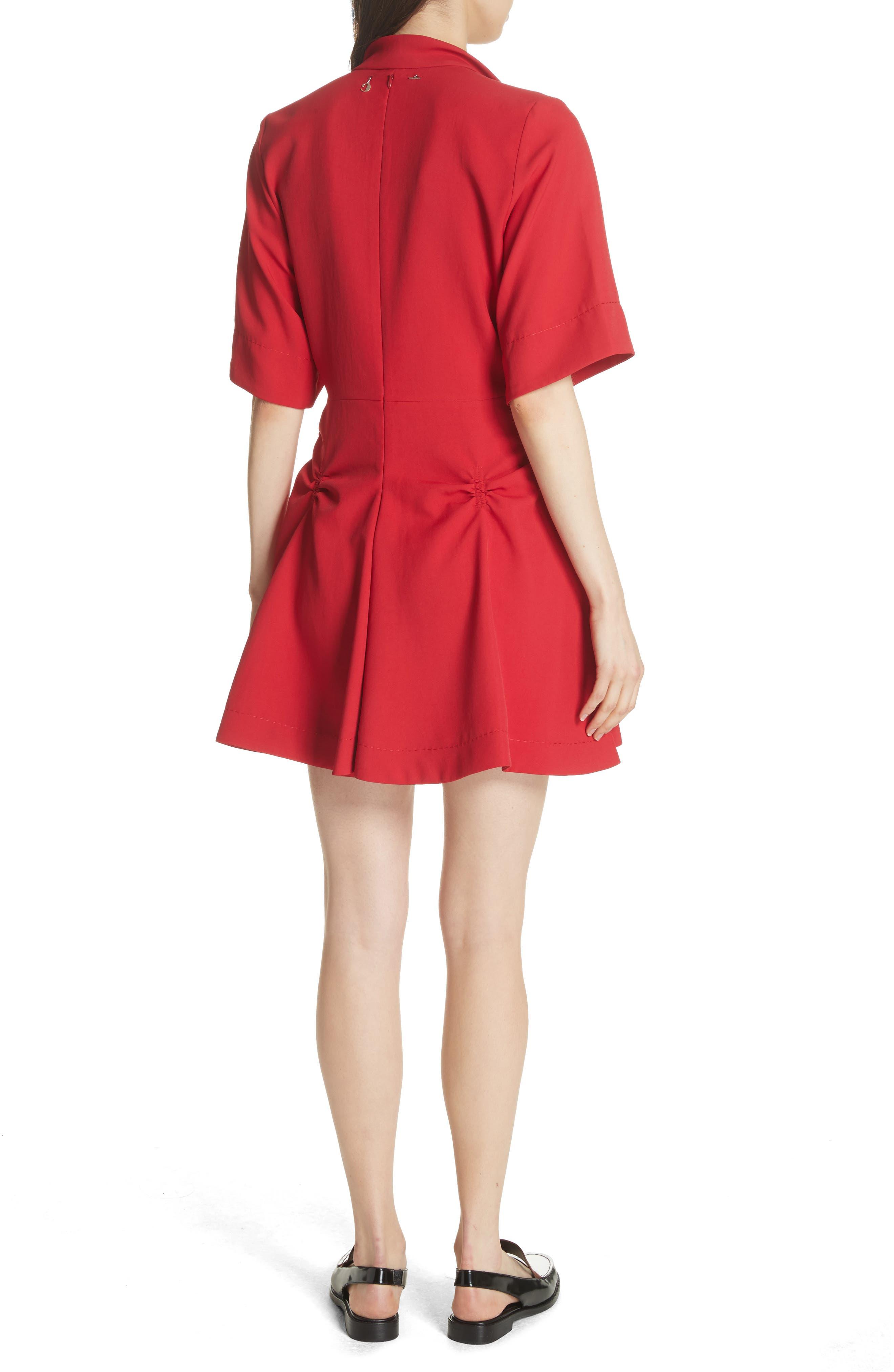 Alternate Image 2  - Carven Robe Courte Lace-Up Dress