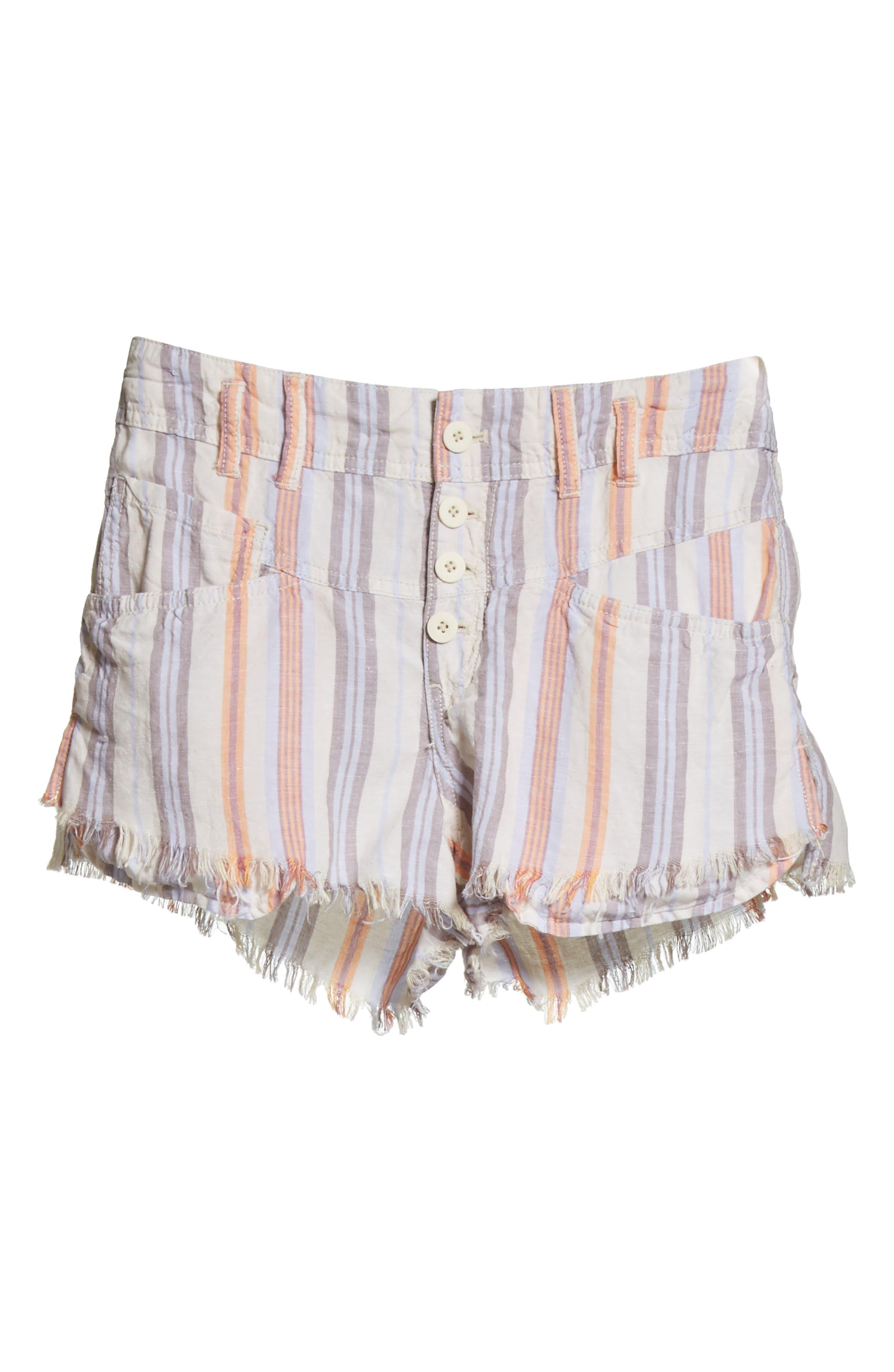 Morning Rain Cutoff Shorts,                             Alternate thumbnail 7, color,                             Nude
