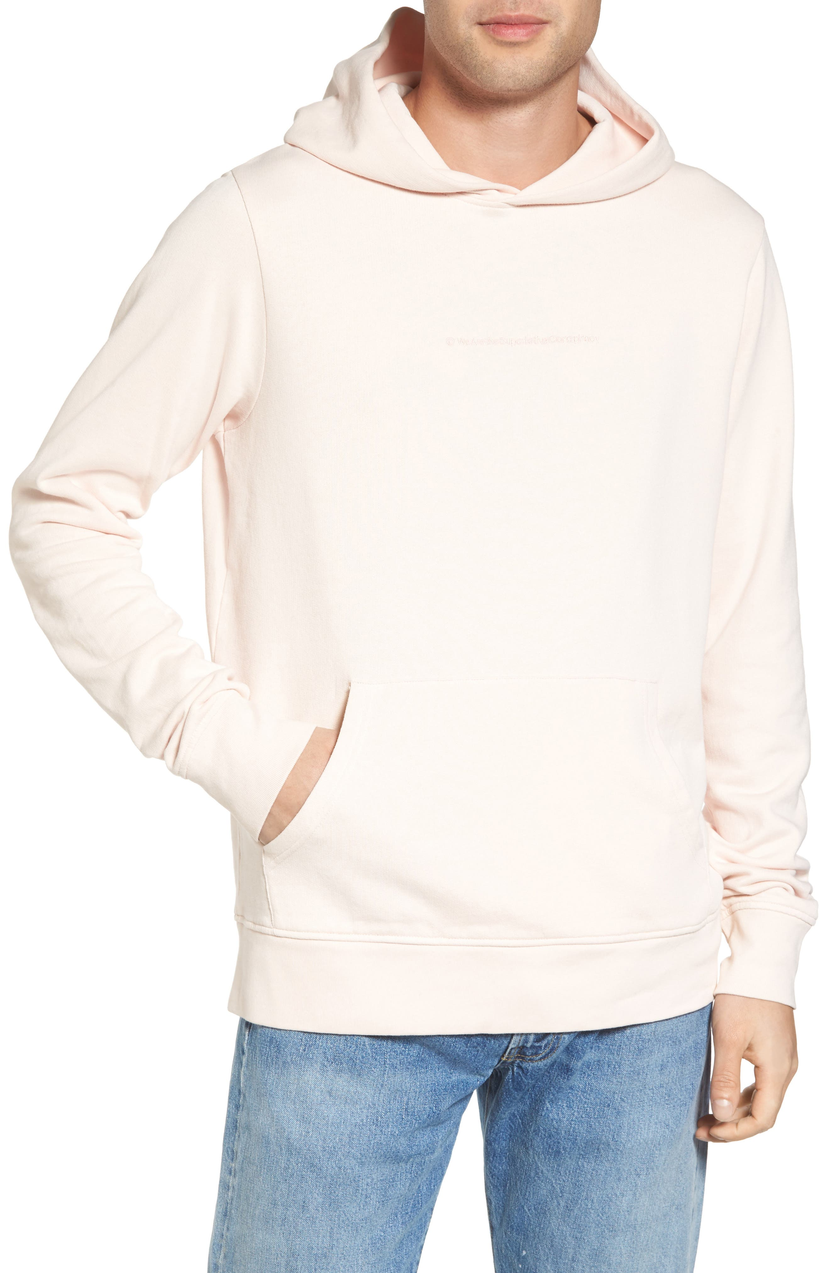 Mike Fleece Hoodie,                         Main,                         color, Pink Blush