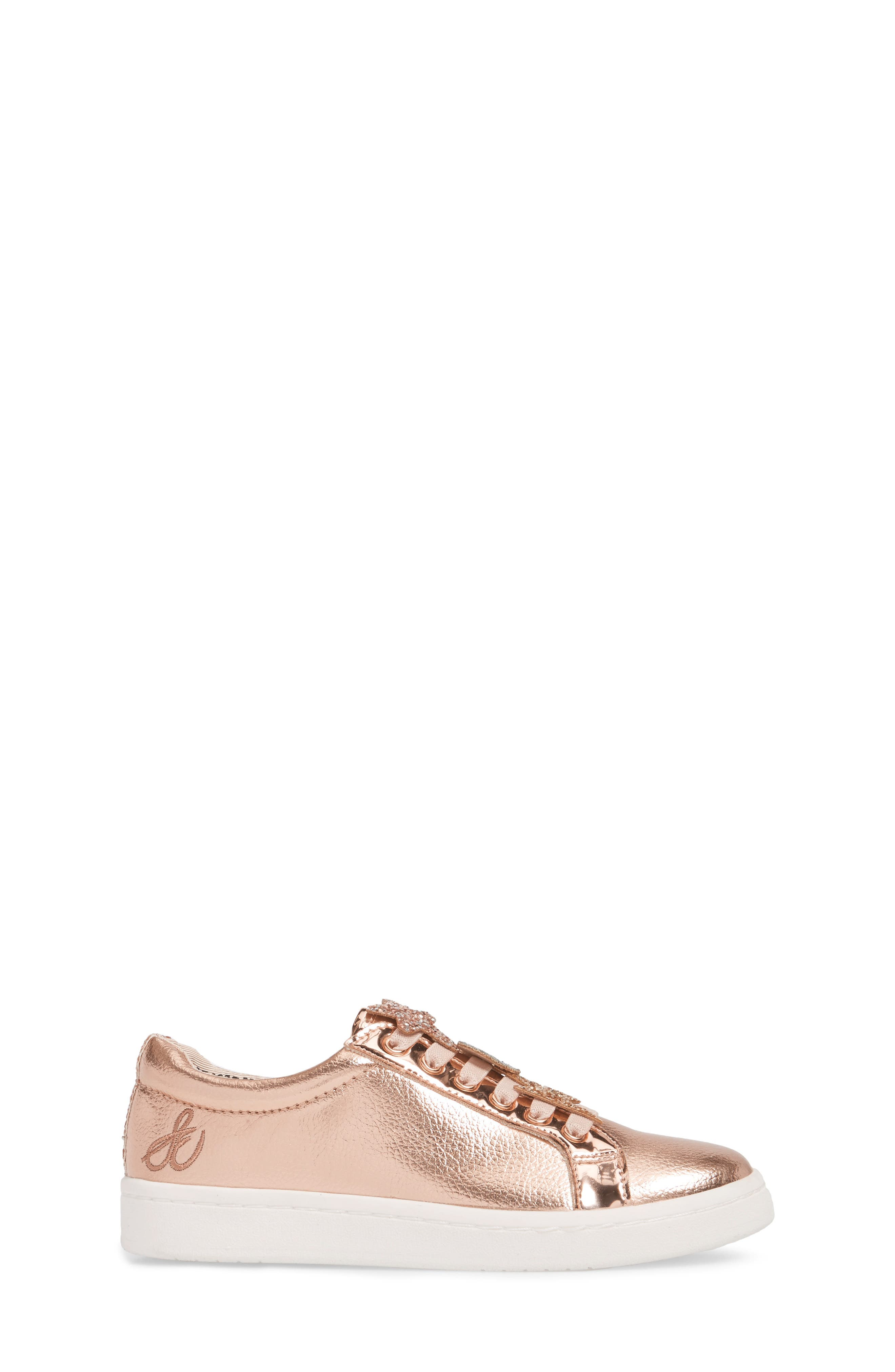Blane Sammie Slip-On Sneaker,                             Alternate thumbnail 3, color,                             Rose Gold Faux Leather
