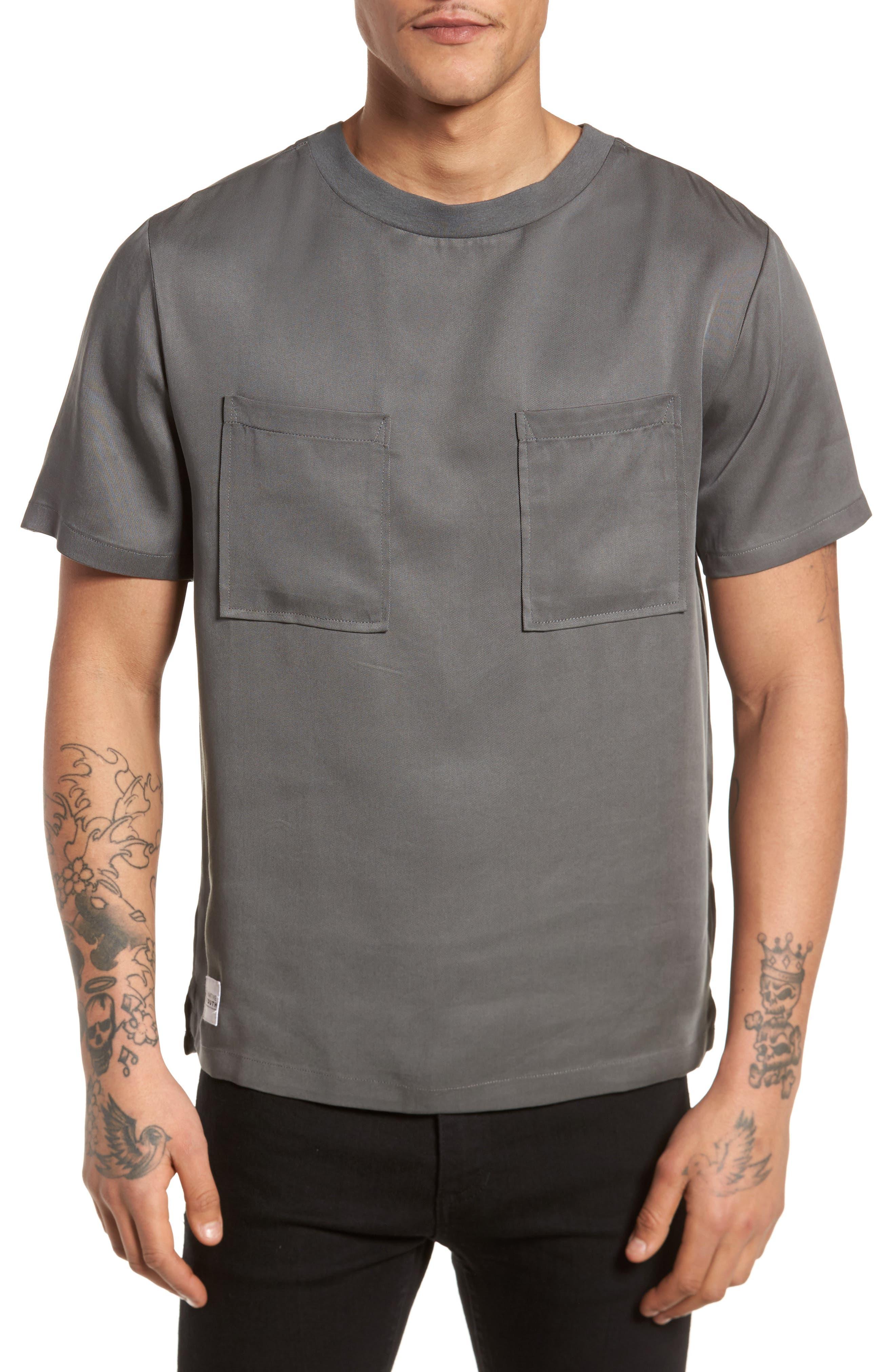 Denali Woven T-Shirt,                             Main thumbnail 1, color,                             Grey