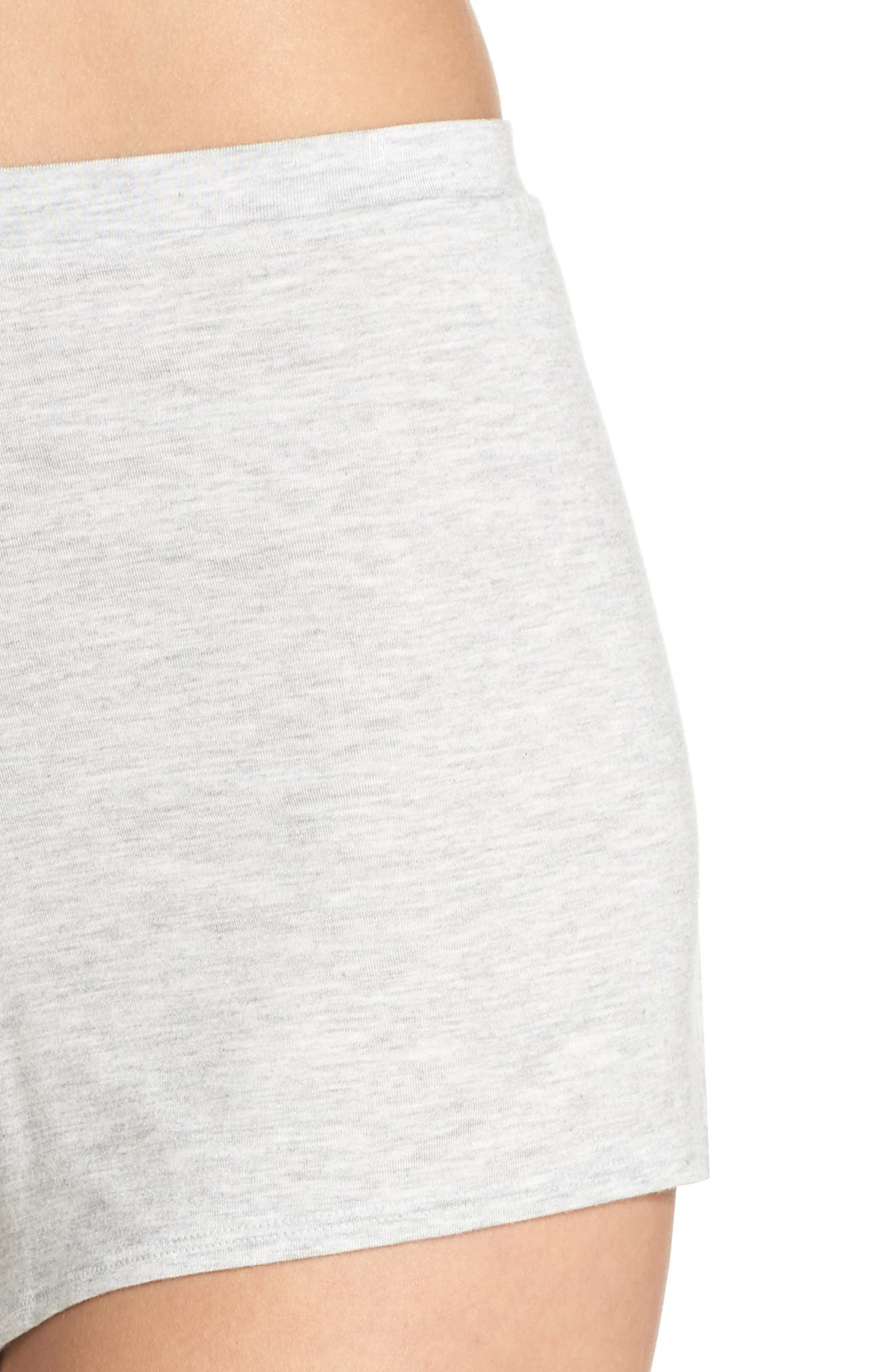 Undressed Pajama Shorts,                             Alternate thumbnail 6, color,                             Silver